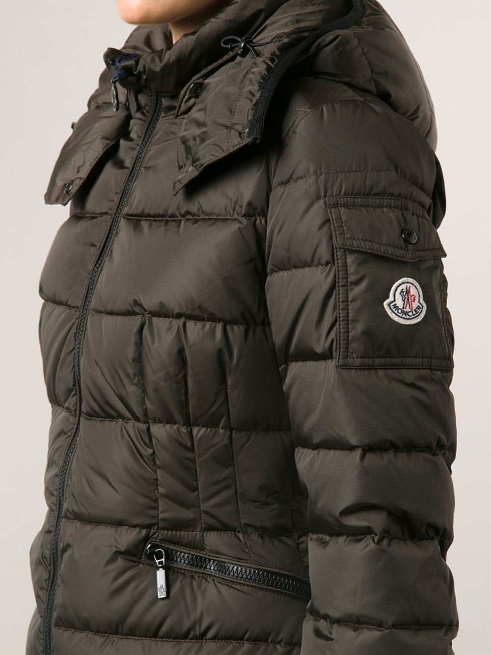 Moncler 'Charpal' Padded Coat in Brown | Lyst