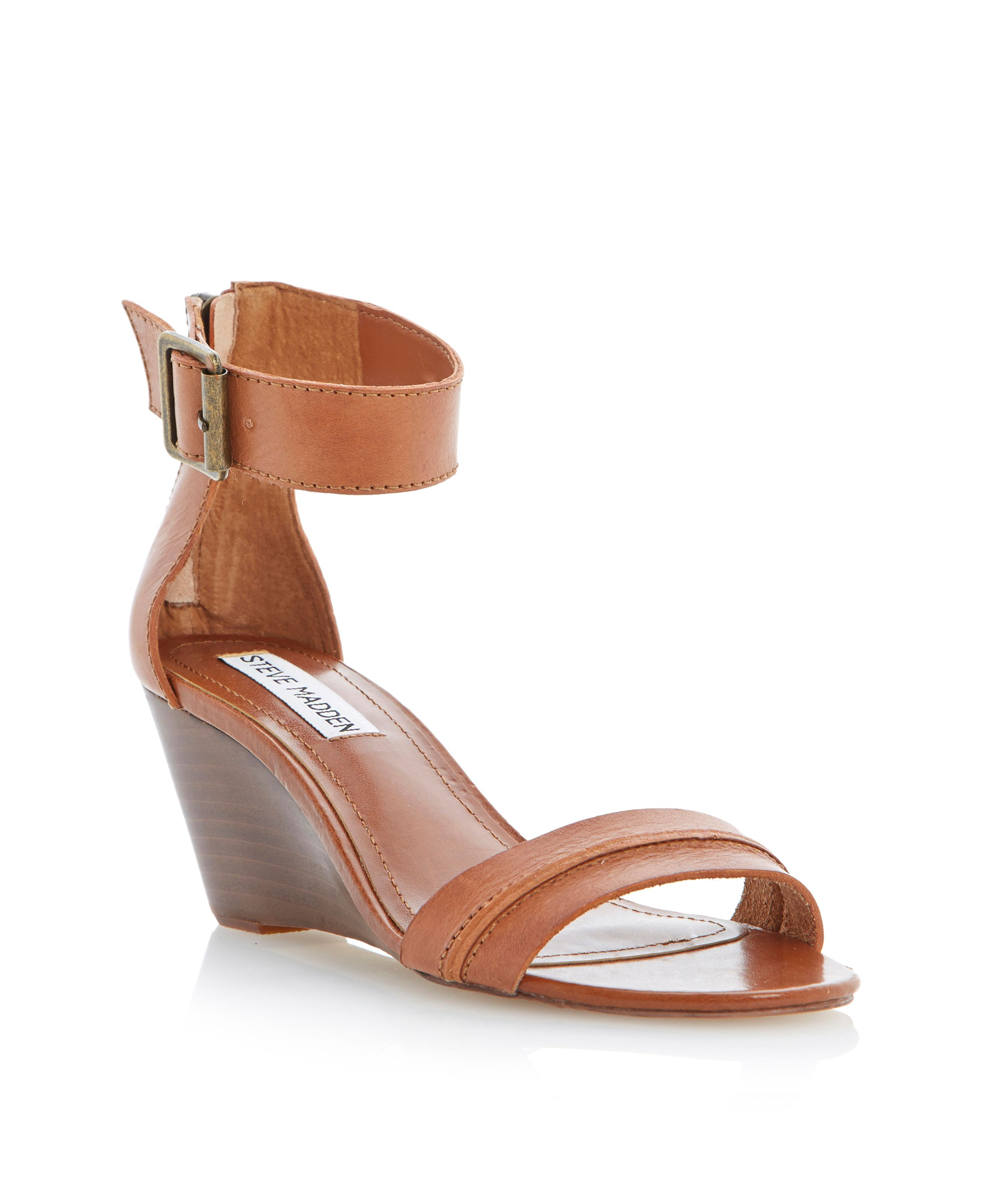Steve Madden Neliee Buckle Ankle Strap Wedge Sandals in ...