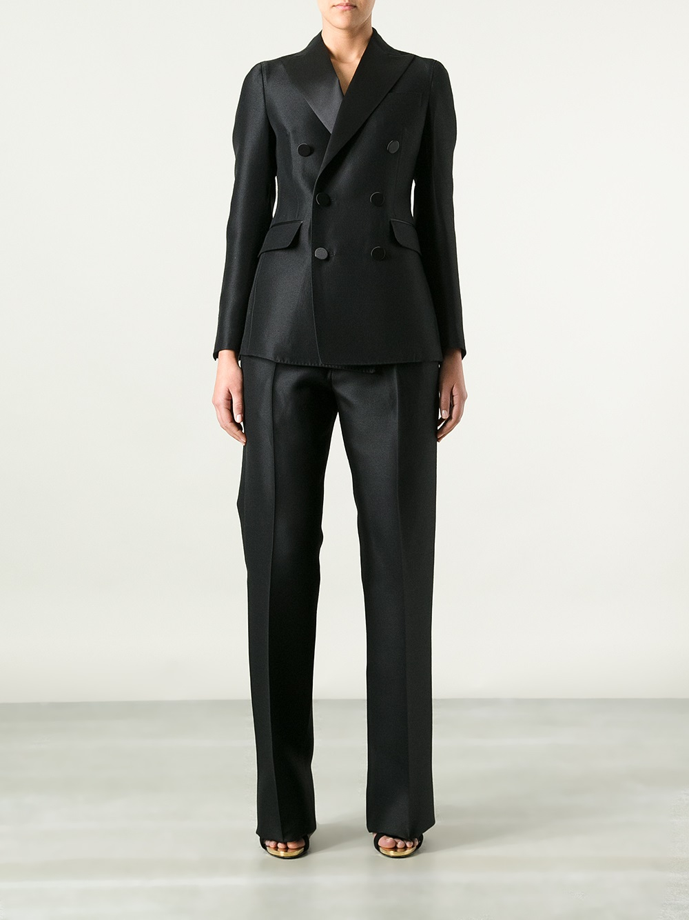 Lyst Dsquared 178 Satin Suit In Black