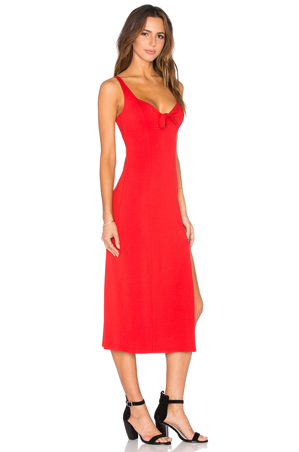 only hearts picnic club bowtie column dress in lyst