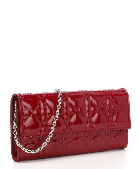 Dior Dark Red Cannage Patent Leather 'Lady Dior' Convertible ...