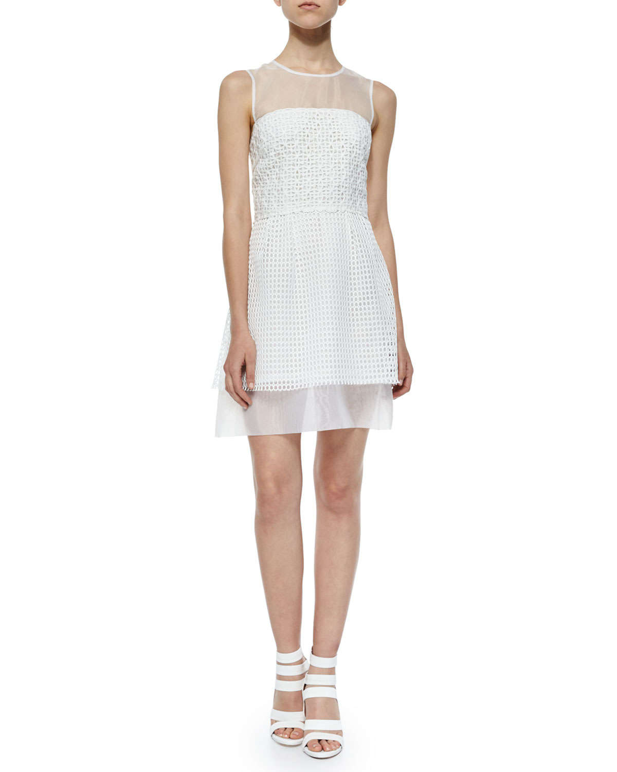 Lyst french connection sleeveless glacier wave jacquard for French connection shirt dress