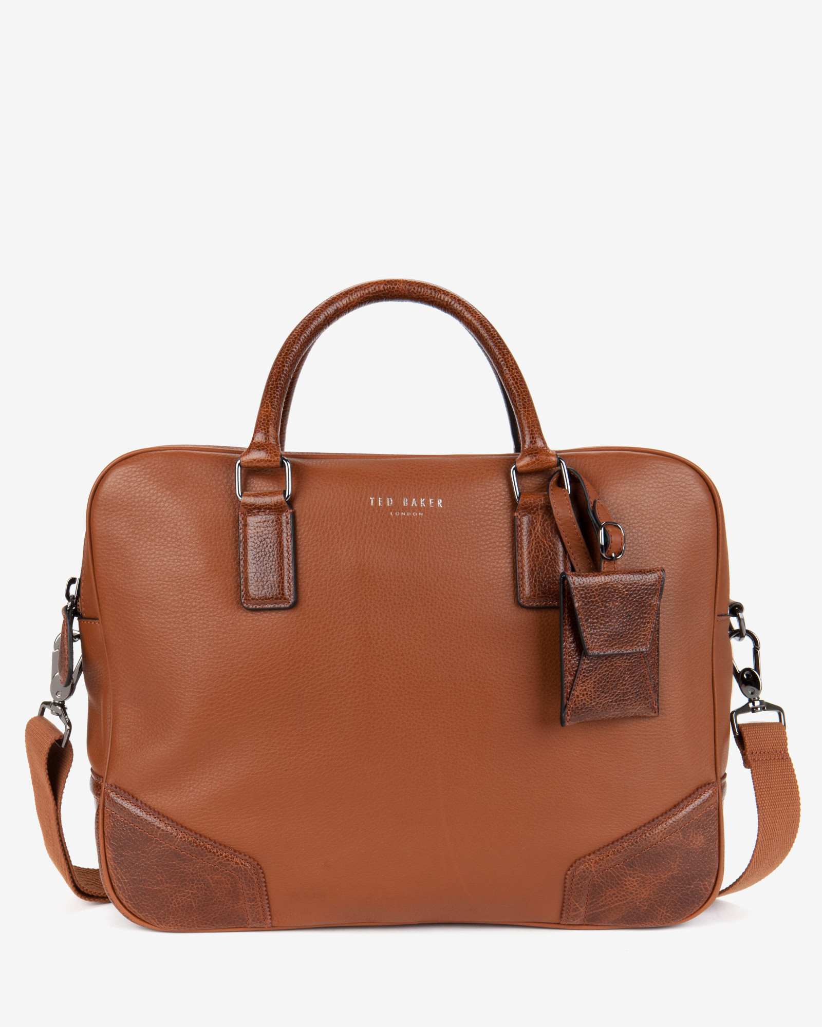 2b0c124214 Ted Baker Leather Document Bag in Brown for Men - Lyst