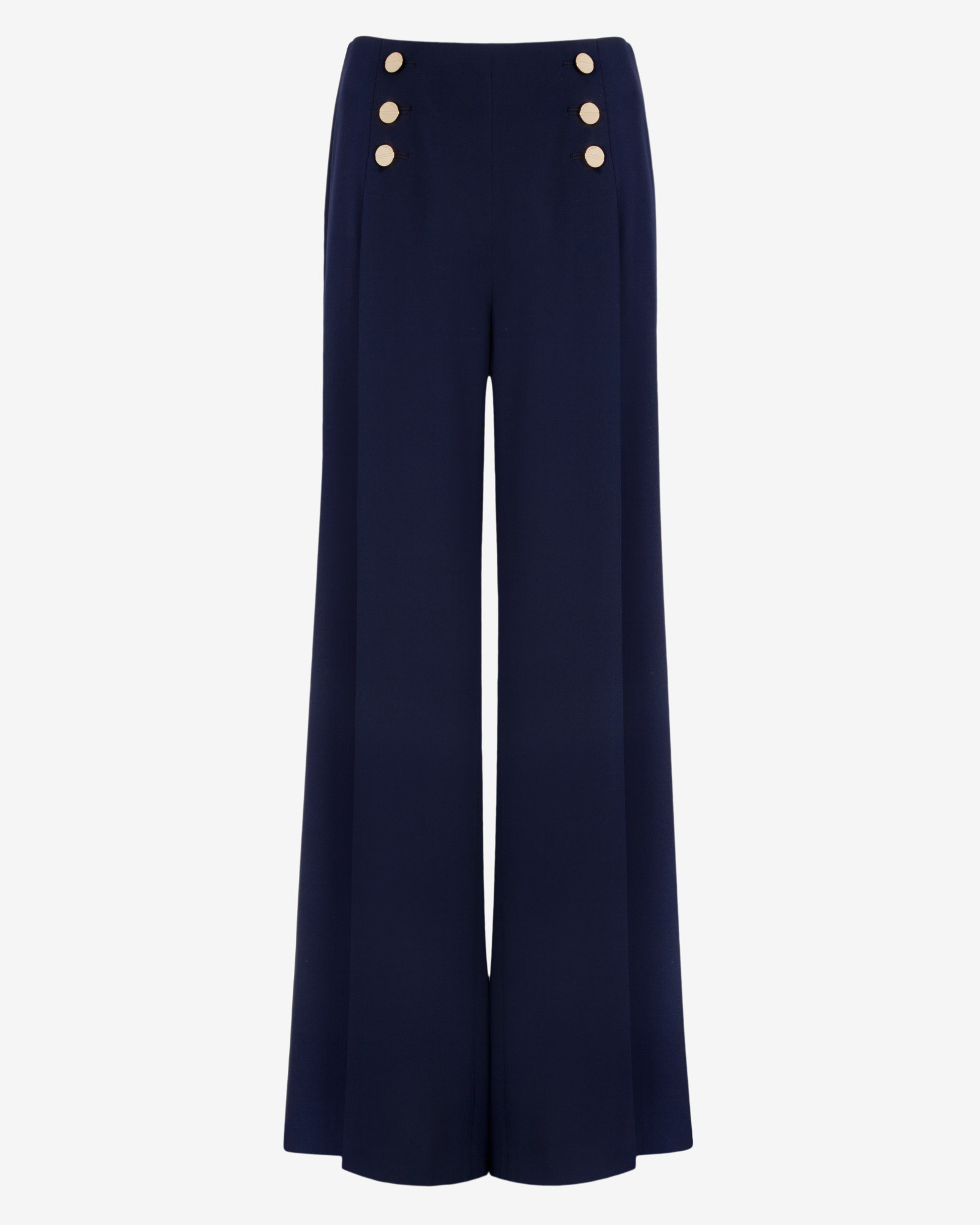Ted Baker Wide Leg Sailor Trousers In Blue Lyst