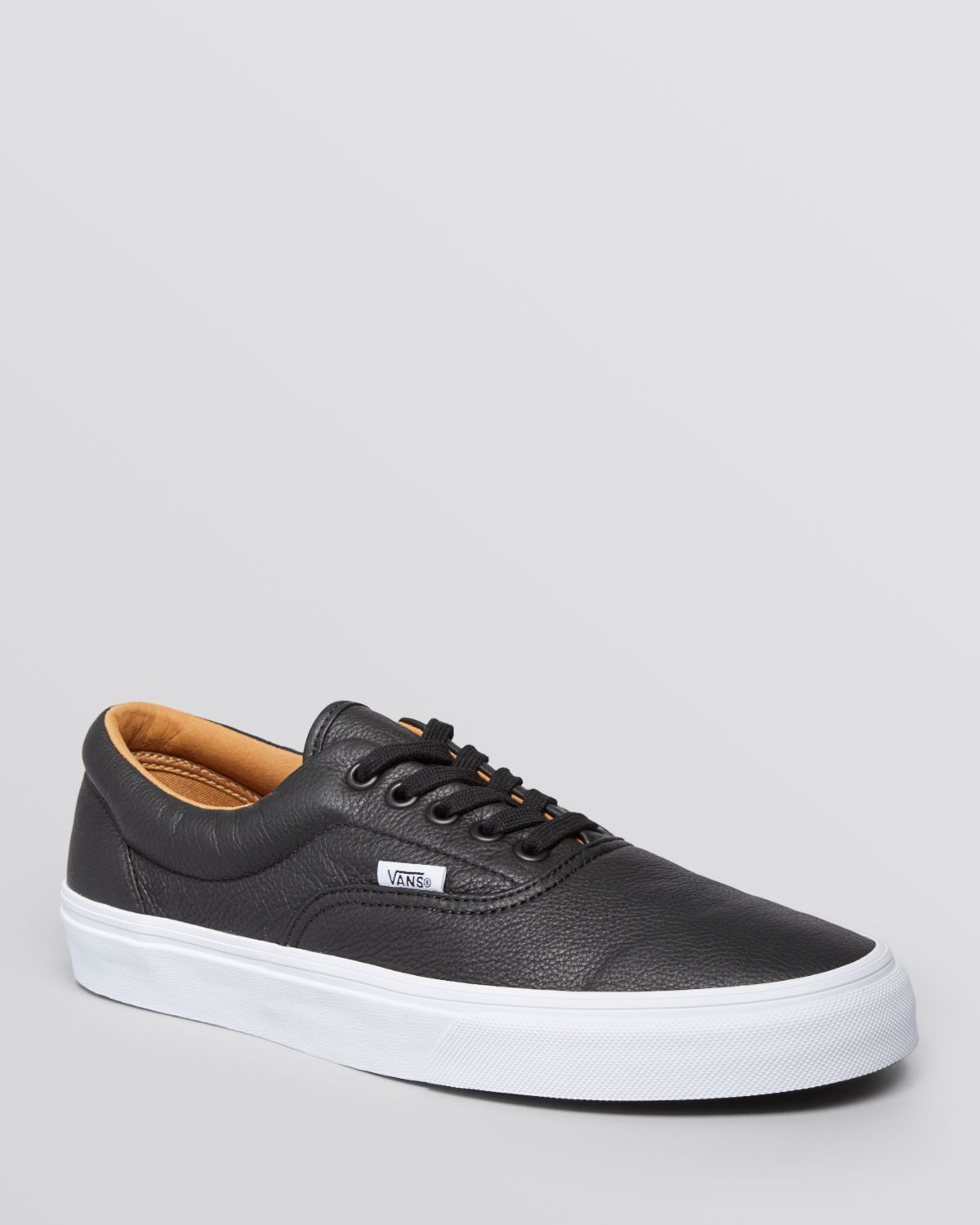 fc2ee90cee6 Up Premium Vans Men Sneakers Lyst Era Leather In Black For Lace XwCTqEqx4B