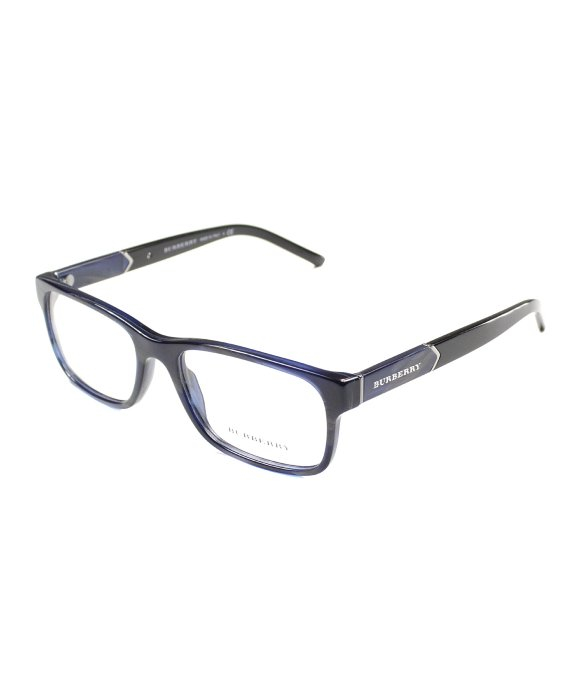 c07b694a76ea Burberry Be2150 3419 Blue Horn Rectangle Eyeglasses-53mm in Black ...
