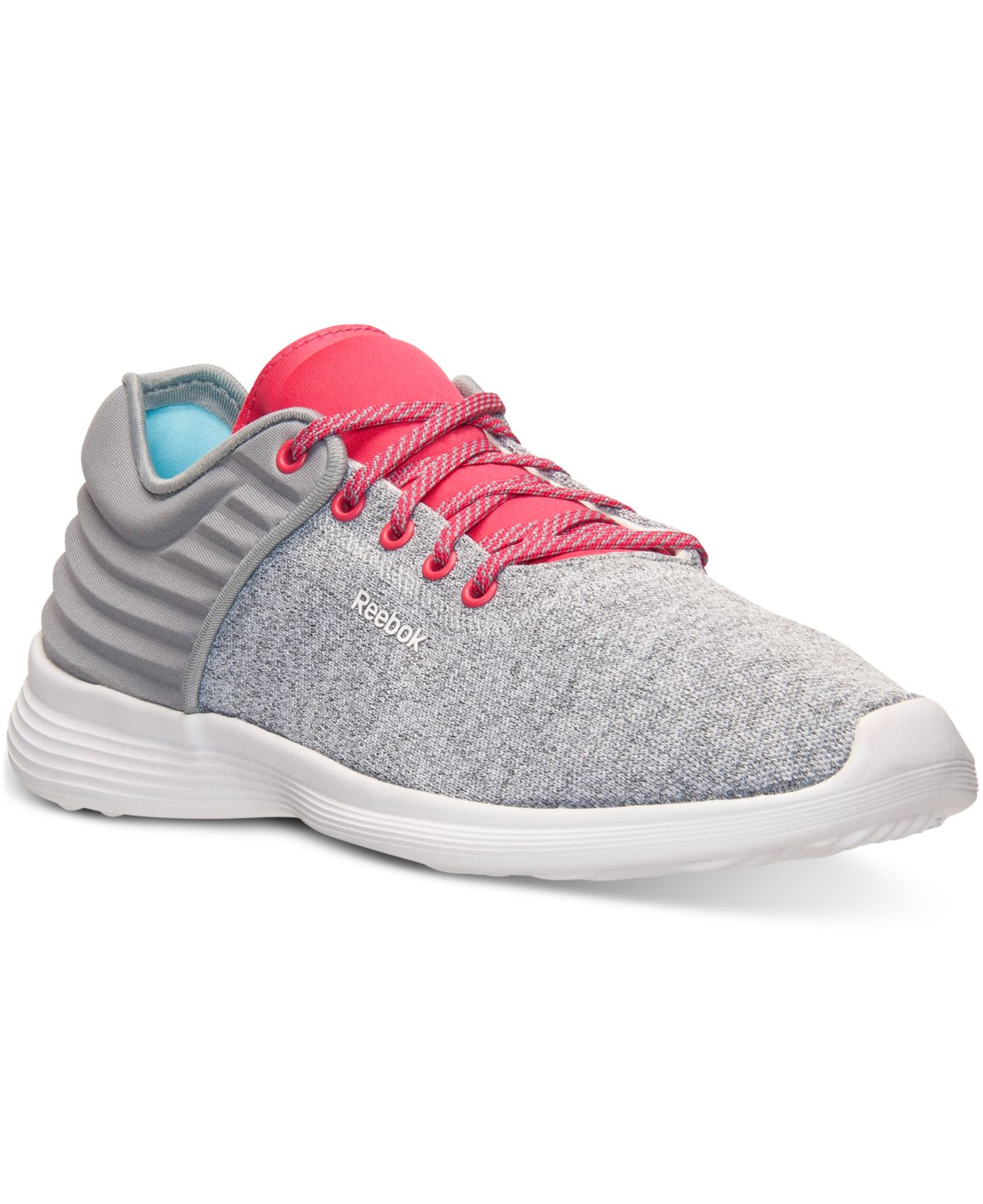 2fa2cdc9538831 Lyst - Reebok Women s Skyscape Fuse Walking Sneakers From Finish ...