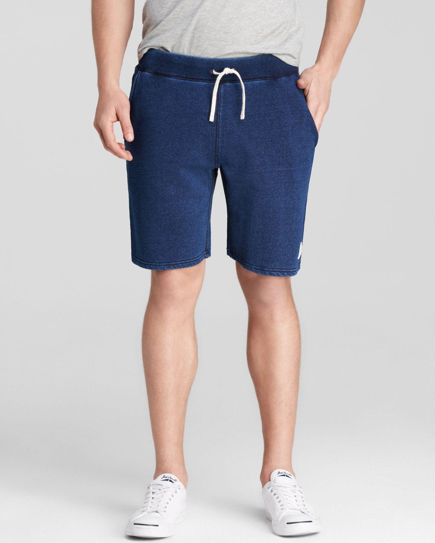Saturdays Nyc Austin Sweat Shorts In Blue For Men Indigo
