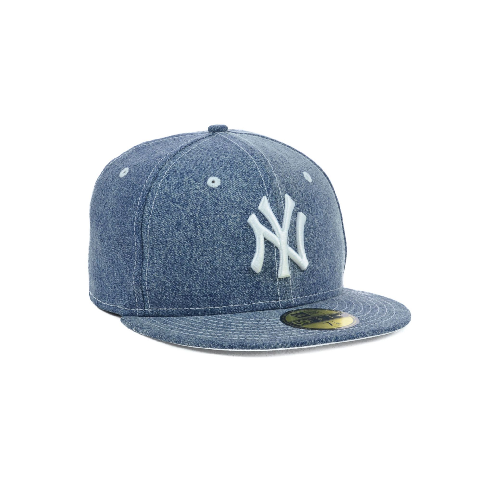 ea71c17c ... coupon code for lyst ktz new york yankees mlb classic denim 59fifty cap  in blue b5aed