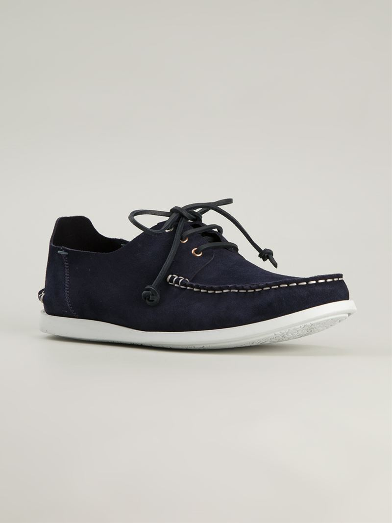d32300cb4aa Paul Smith Classic Deck Shoes in Blue for Men - Lyst