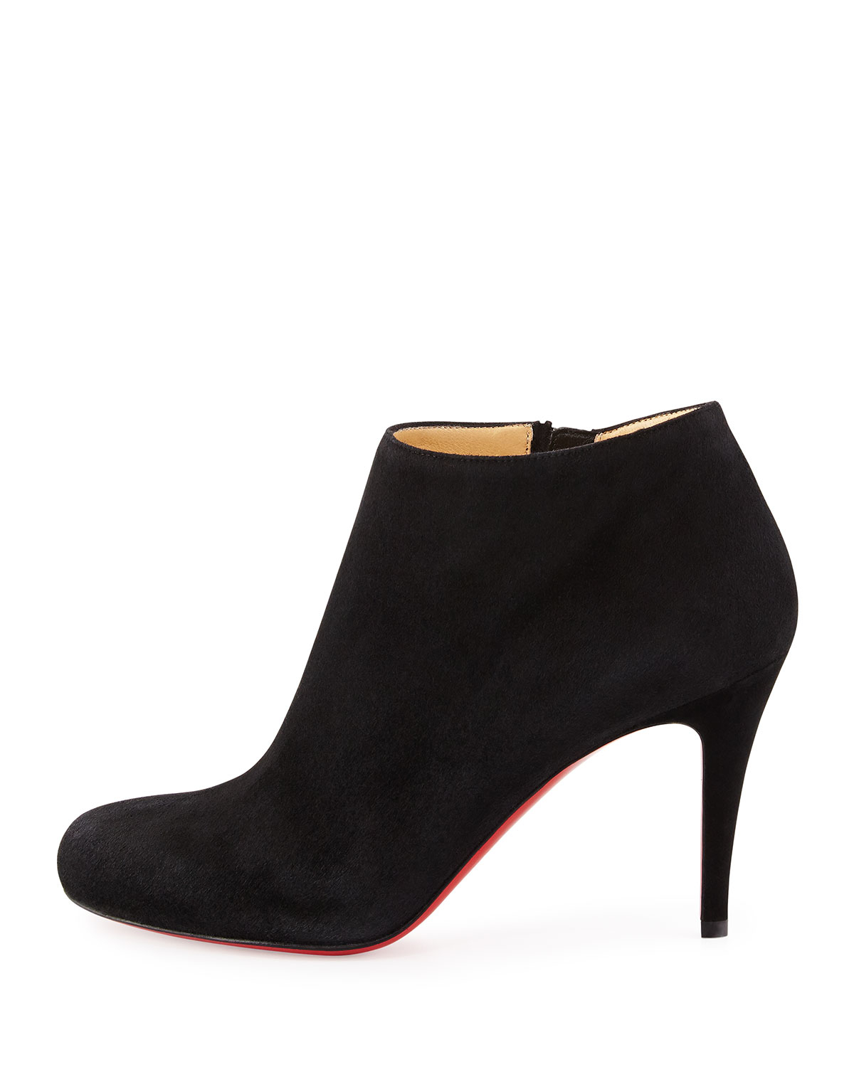 Lyst Christian Louboutin Belle Round Toe Suede Red Sole