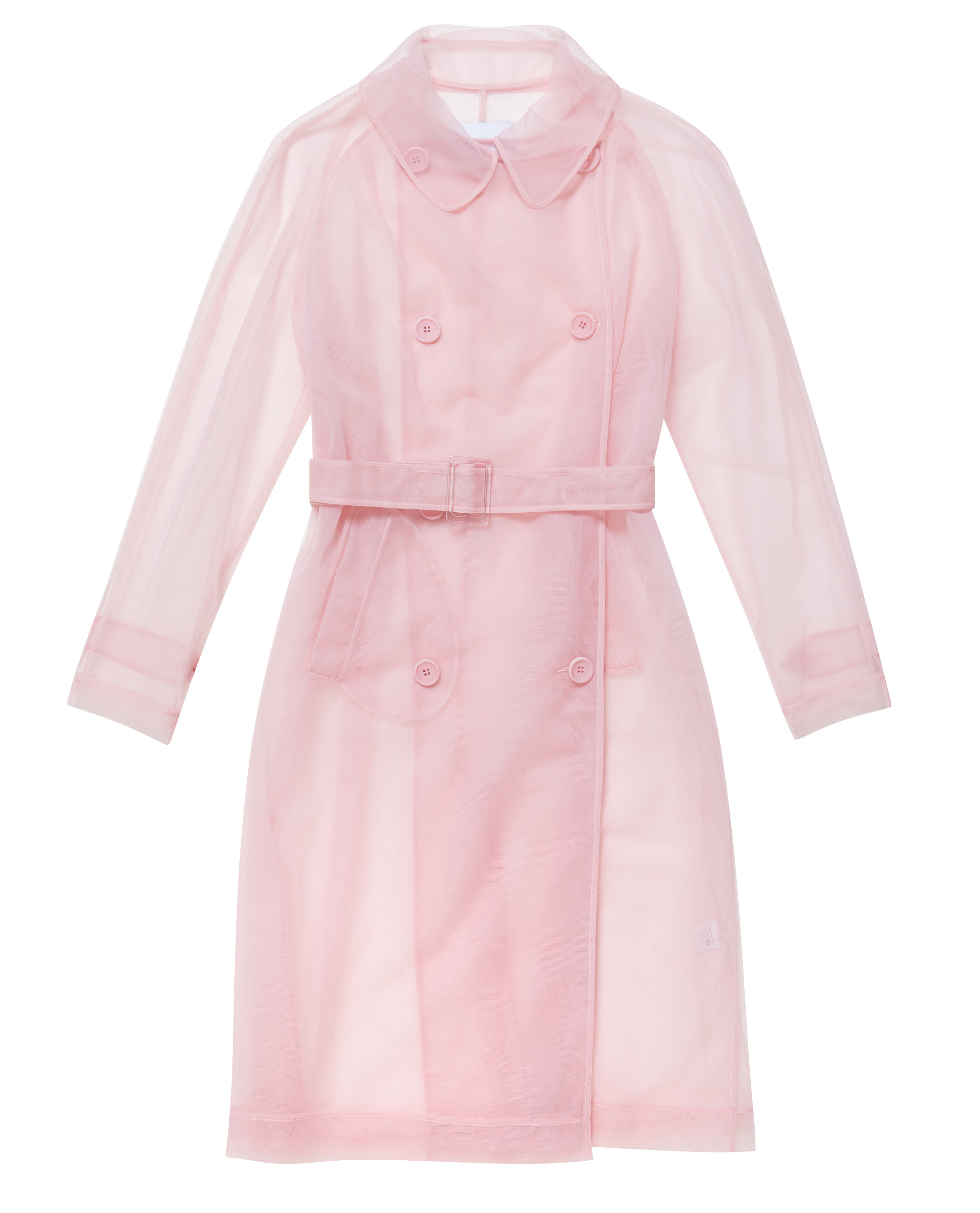 Simone rocha Tulle Trench Coat in Pink   Lyst