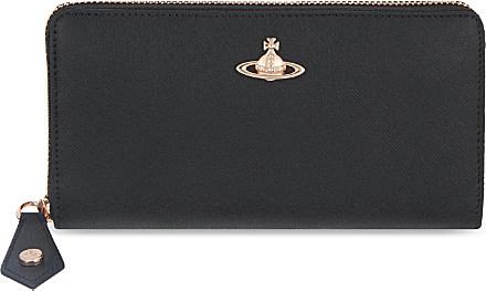 d42134646f2 Vivienne Westwood Opio Saffiano Zip-around Wallet, Women's, Black in ...