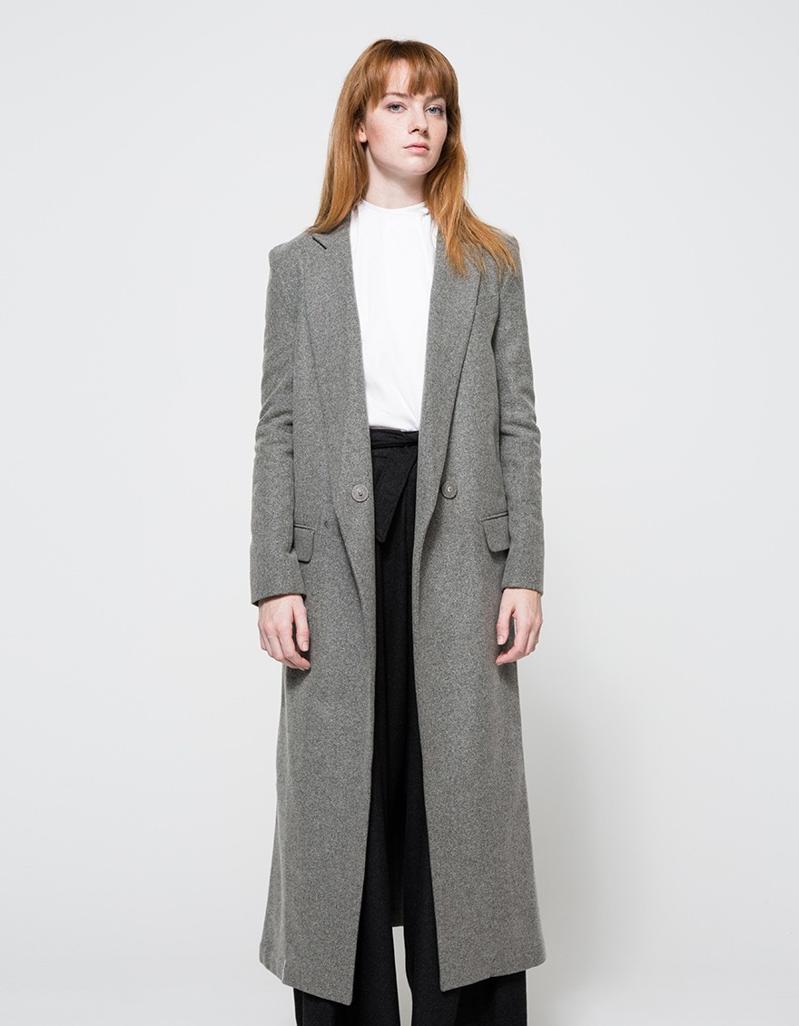 Assembly Long Coat in Gray | Lyst