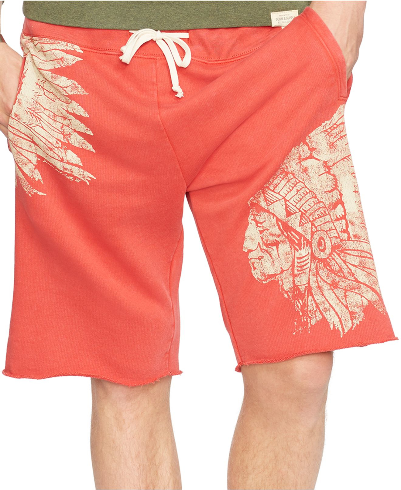 e92189978b5 Denim & Supply Ralph Lauren French Terry Graphic Shorts in Red for ...