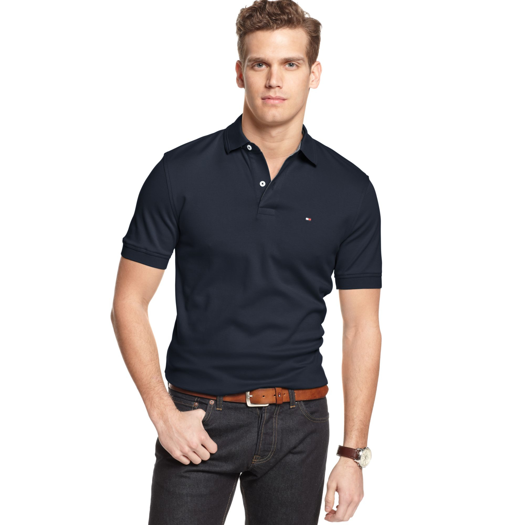 lyst tommy hilfiger jacob polo shirt in blue for men. Black Bedroom Furniture Sets. Home Design Ideas