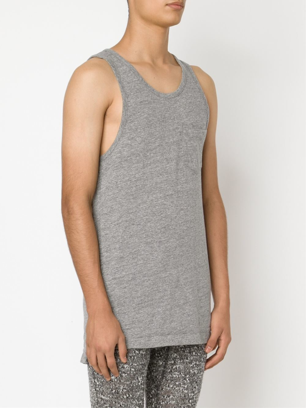 35d1a8cde2fe9d Lyst - John Elliott Mercer Cotton Tank Top in Gray for Men