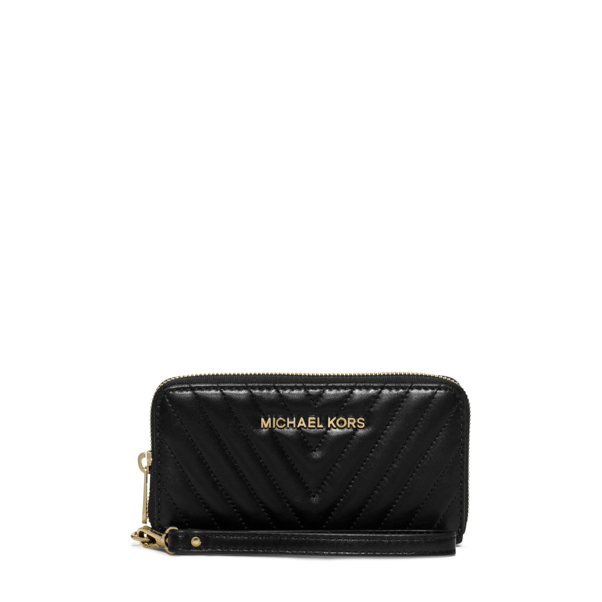 3efd350fe9b6 Michael Kors Susannah Large Chevron-quilted Smartphone Wristlet in ...