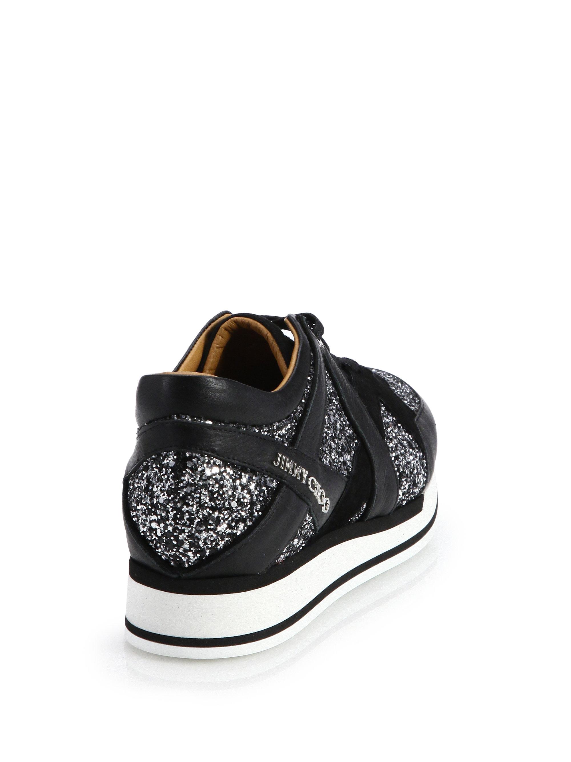 Black Leather Jett Sport Sneakers Jimmy Choo London E8b7n