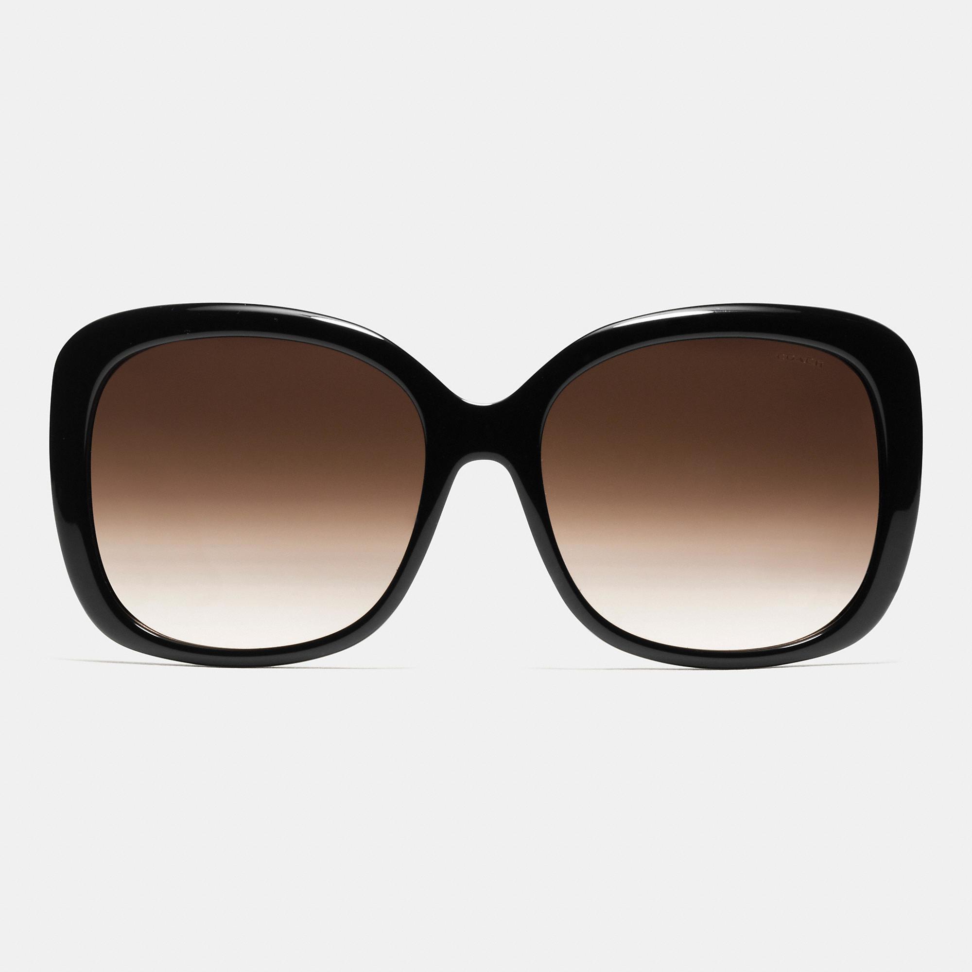 8aa22f206ada ... czech lyst coach horse and carriage square sunglasses in black fce20  4ffe5