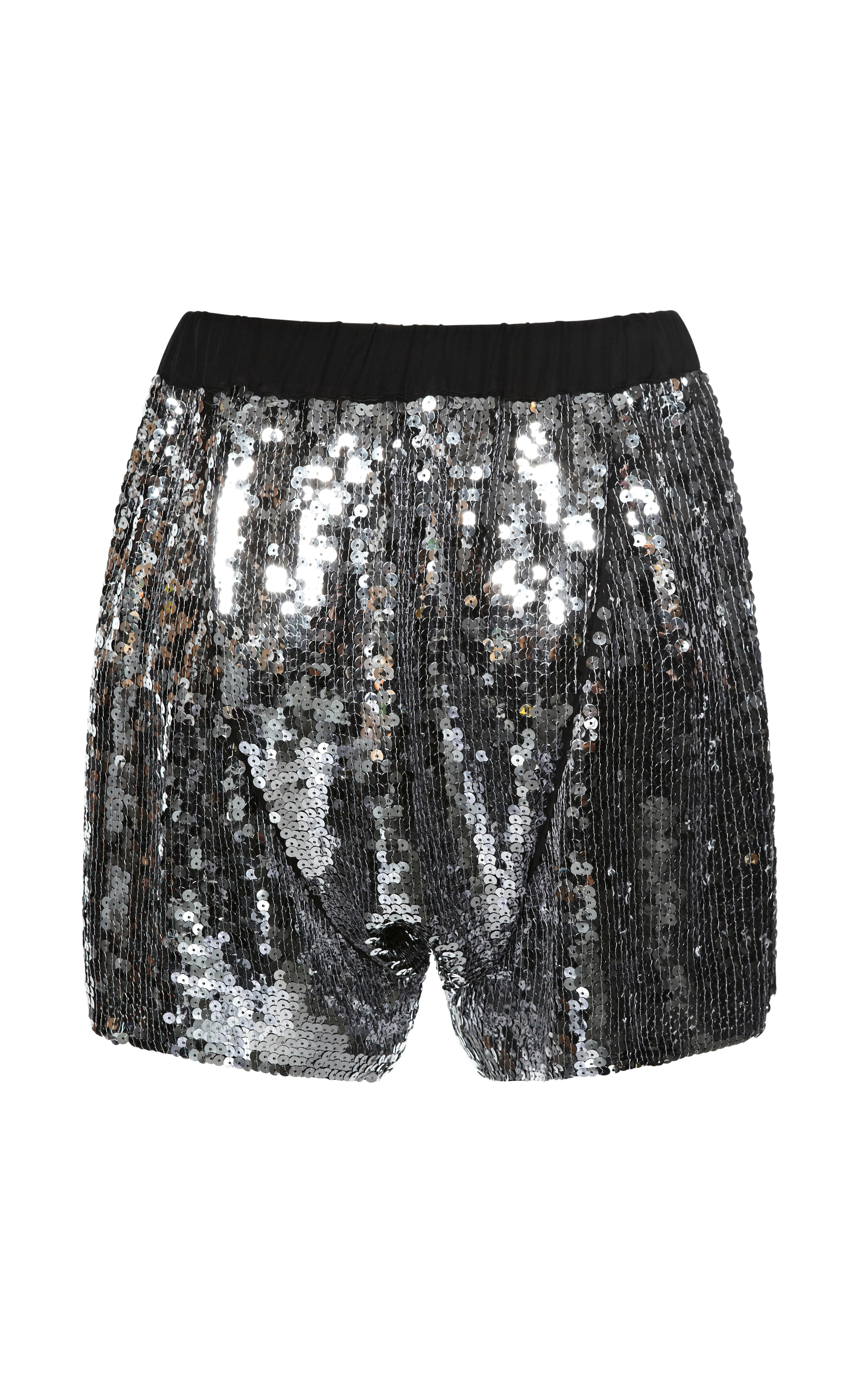 N°21 'boxer' Metallic Sequin Shorts in Metallic - Lyst