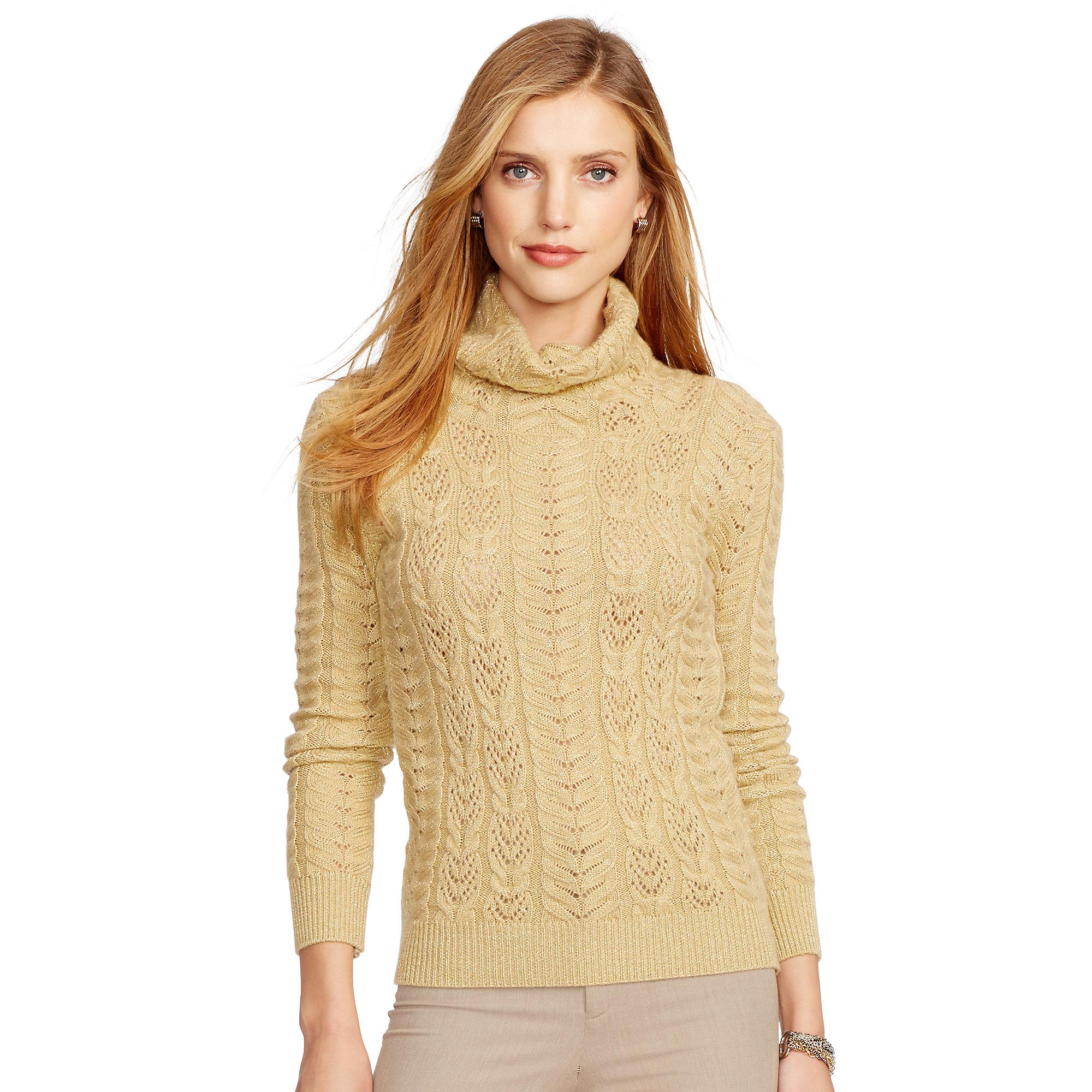 Ralph lauren Metallic Wool-cashmere Sweater in Metallic | Lyst