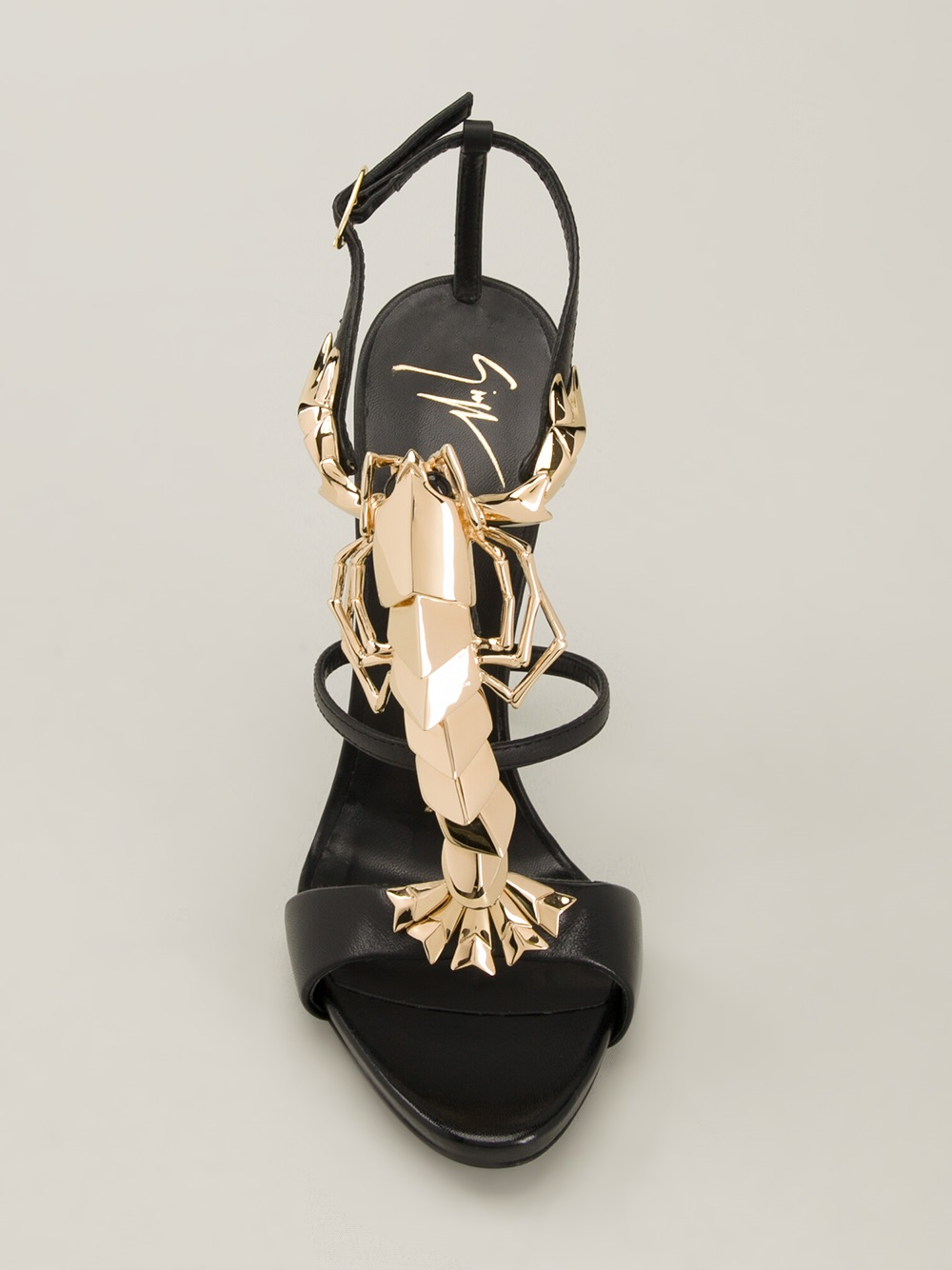e334f7e46b5e1 Giuseppe Zanotti Lobster Jewel Sandals in Black - Lyst