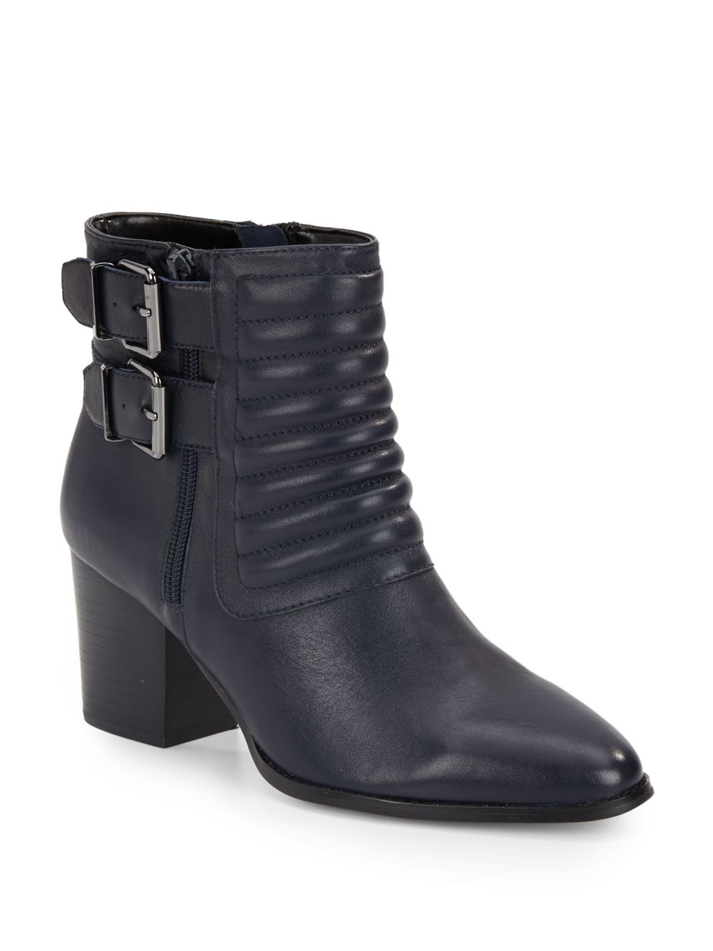 Lyst Saks Fifth Avenue Whitley Leather Booties In Blue