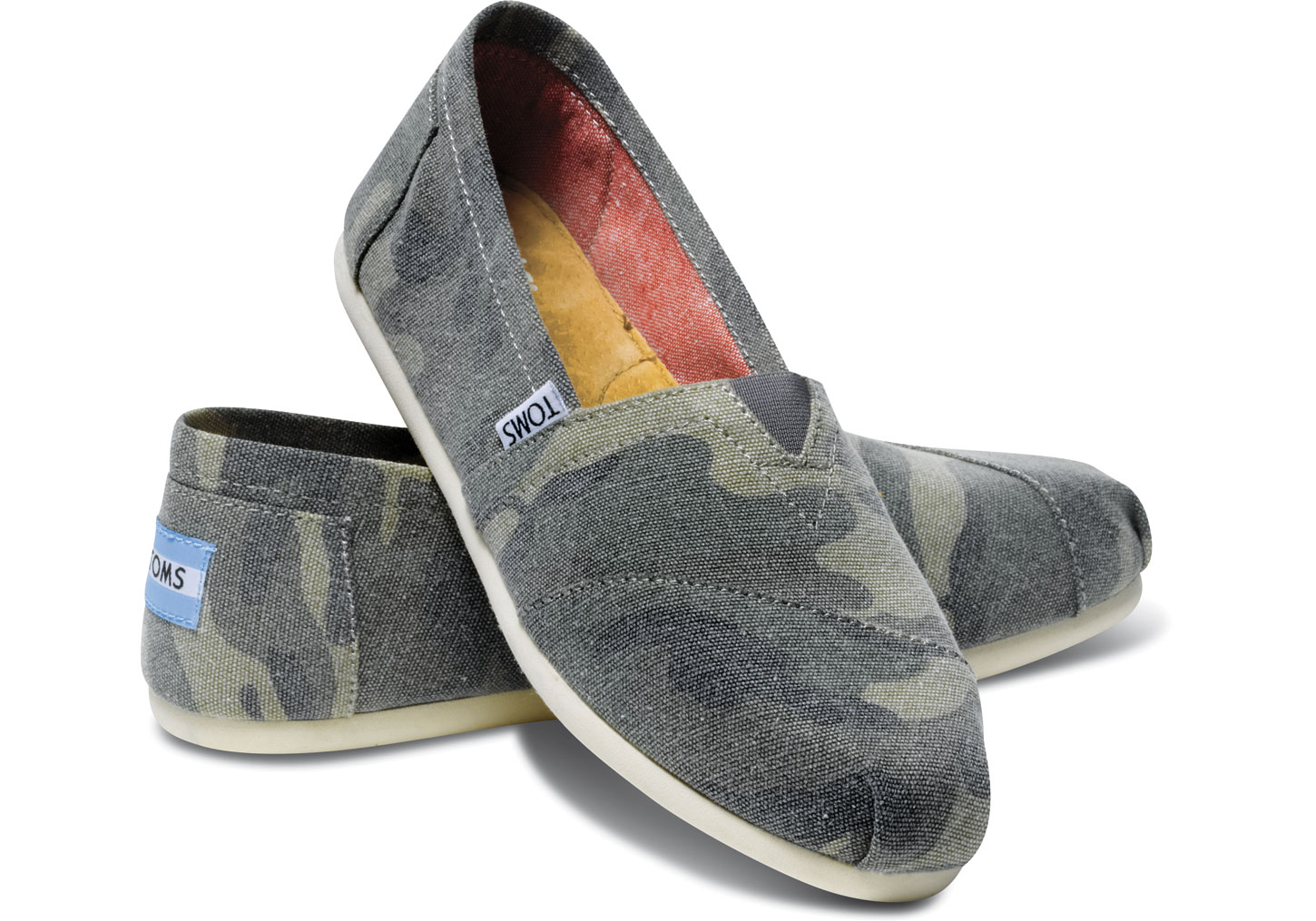 Lyst Toms Washed Camo Canvas Women S Classics In Green