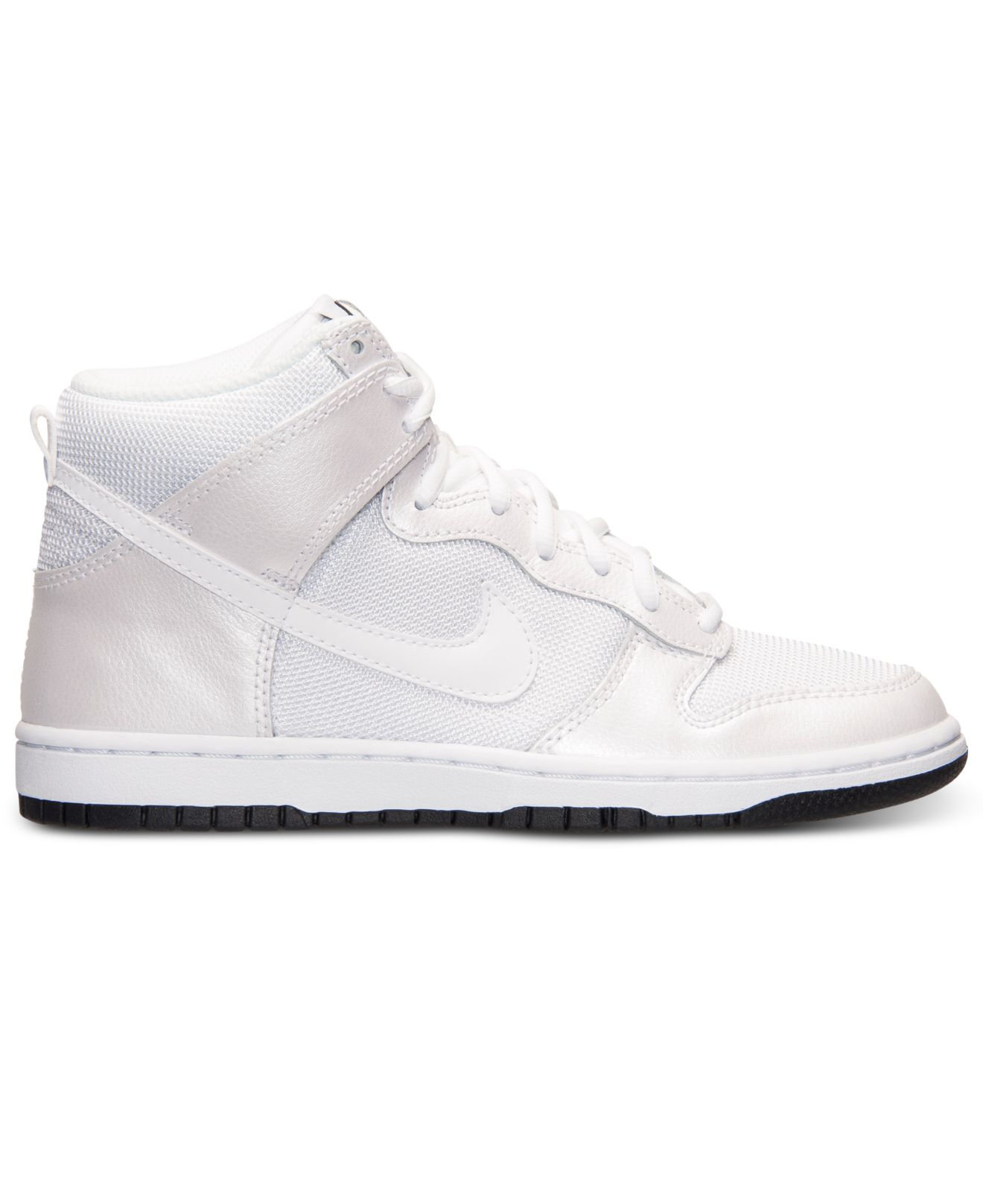 Lyst - Nike Women s Dunk High Skinny Casual Sneakers From Finish ... fa51f0e67f93