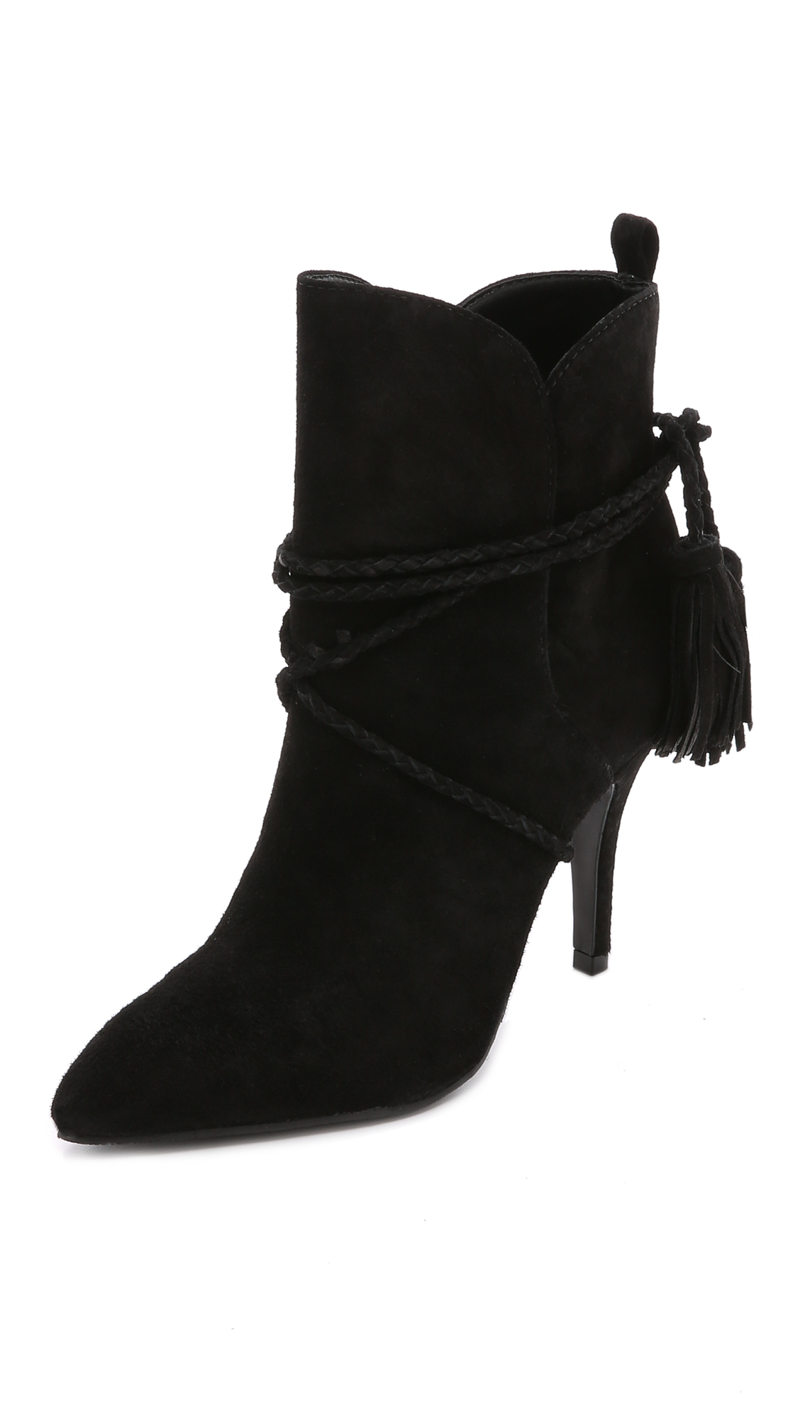 Schutz Fadhila Ankle Wrap Booties in Black | Lyst