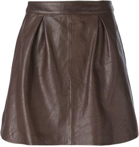eleventy brown high waisted skirt lyst