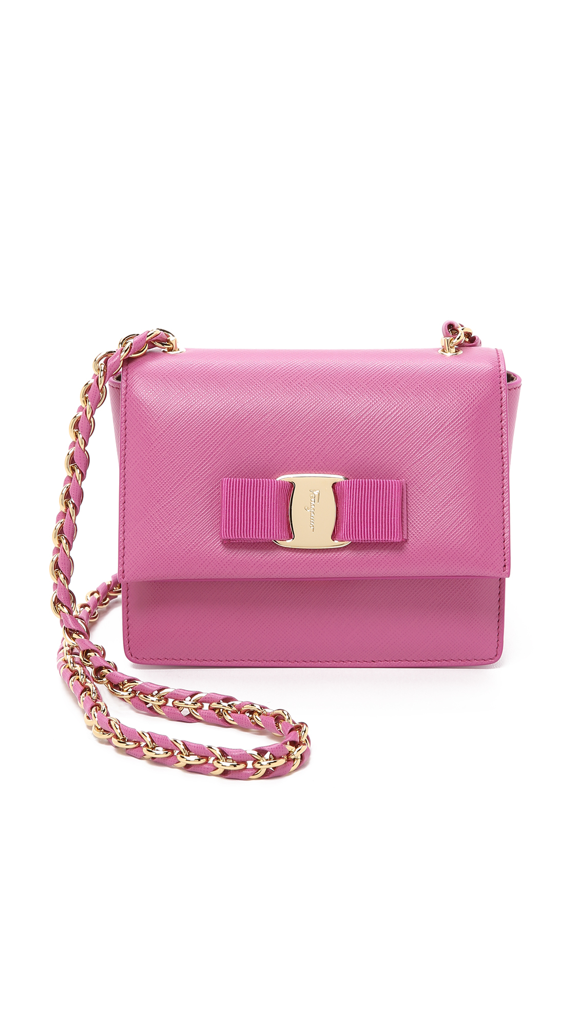 ... new arrival d62f0 01f57 Ferragamo Ginny Cross Body Bag - Anemone in  Purple - Lyst ... 0021c3b068
