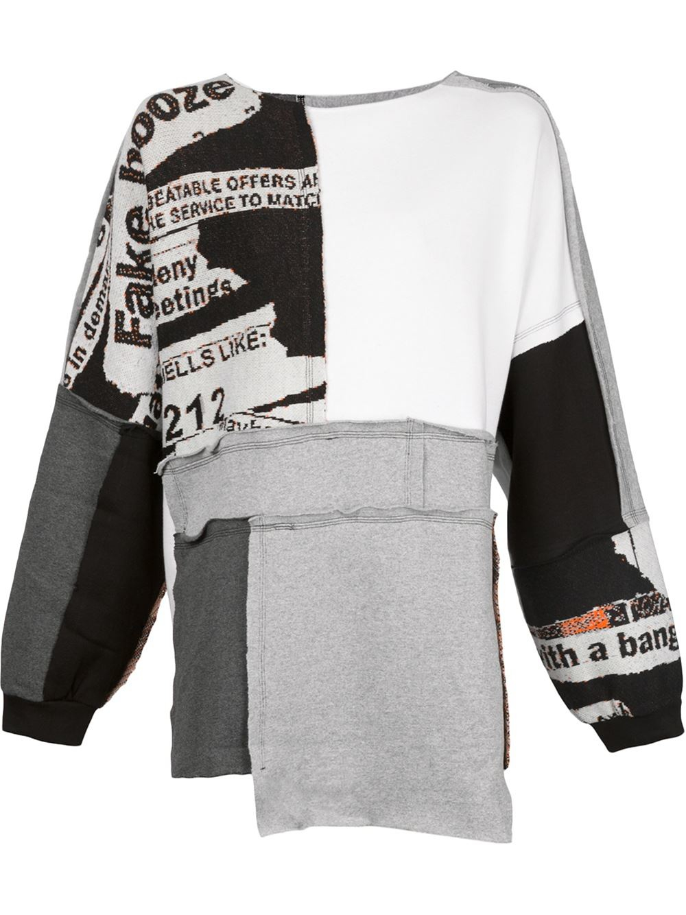 035049768bc9 Lyst - Liam Hodges Patchwork Sweatshirt in Gray for Men