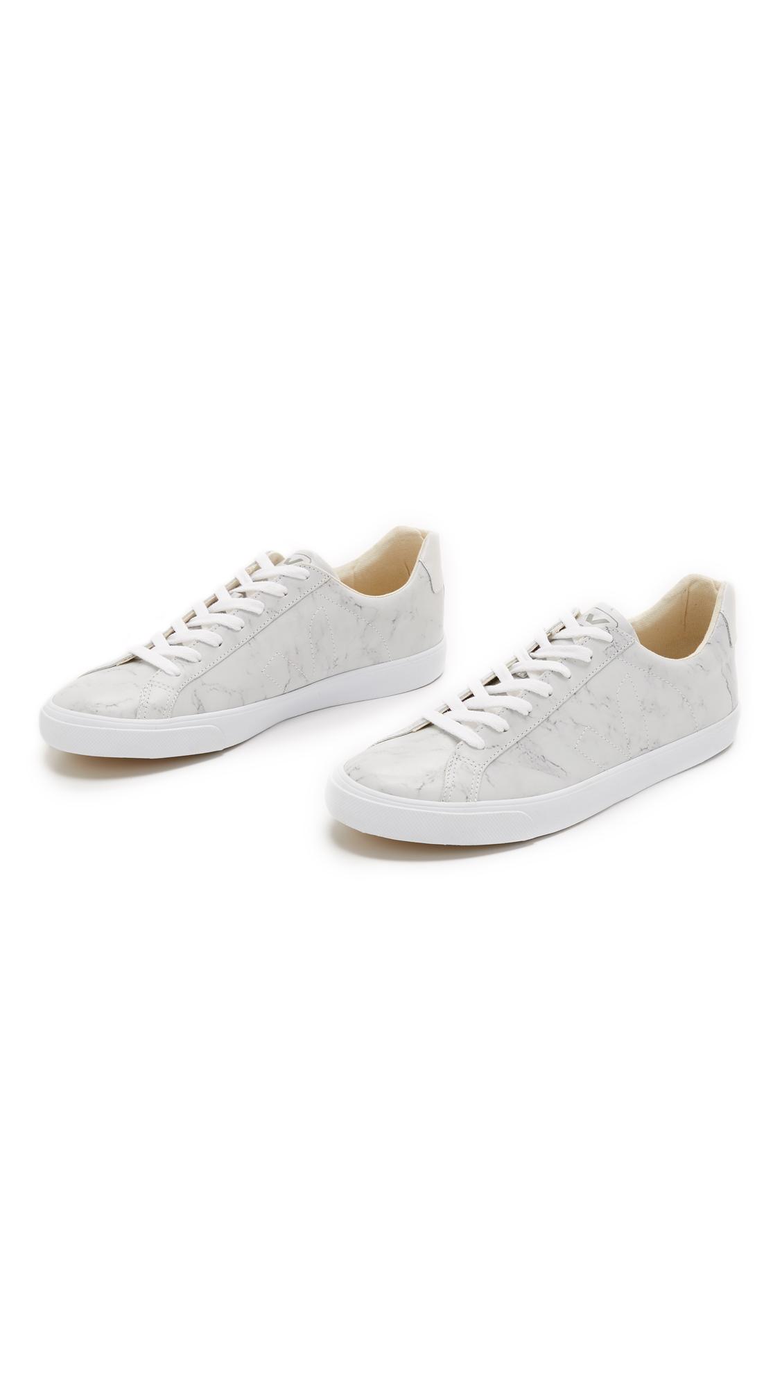 Lyst Veja Esplar Leather Sneakers In Gray For Men
