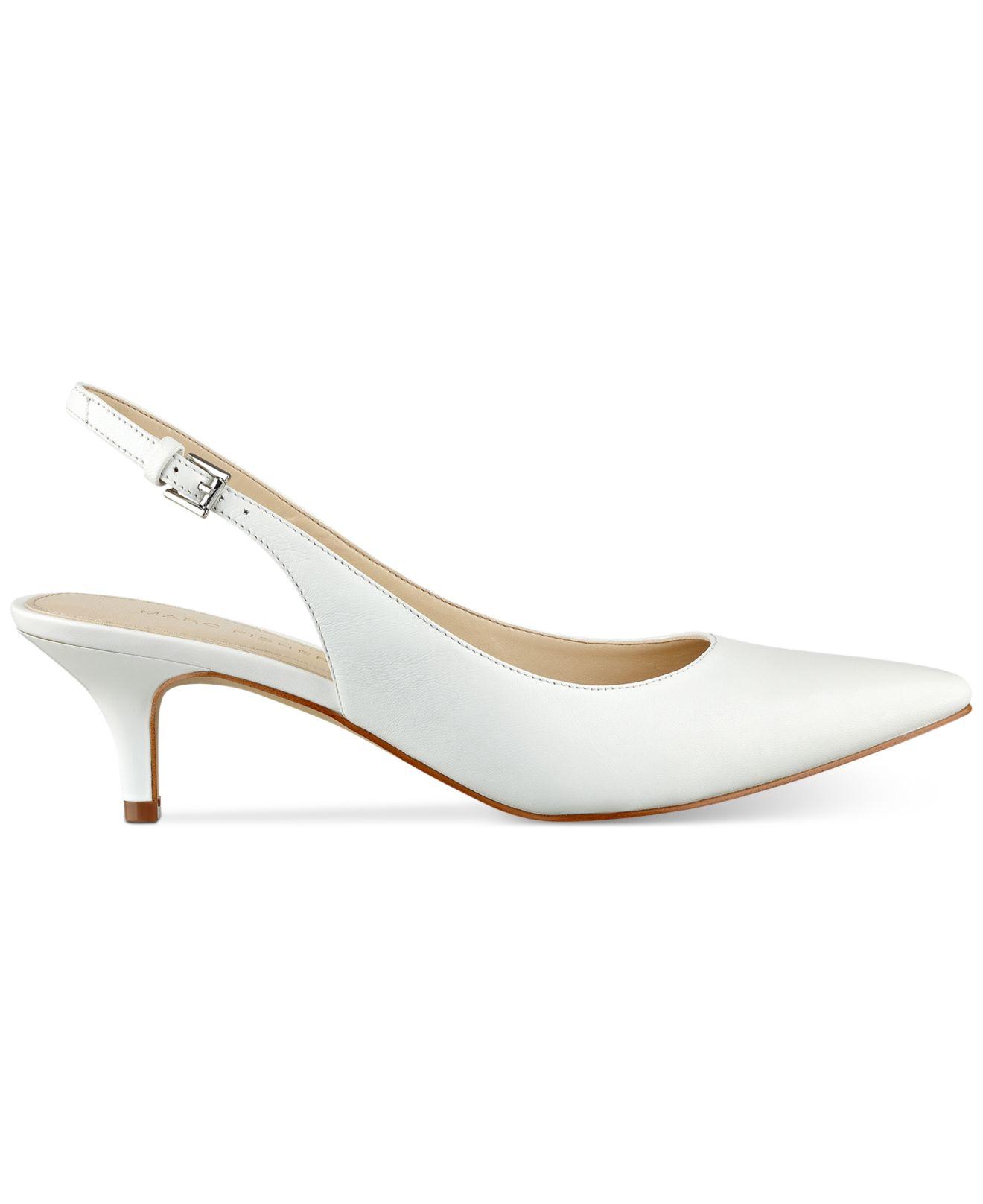 a2f98c86d528 Lyst - Marc Fisher Tiffani Kitten-heel Slingback Pumps in White