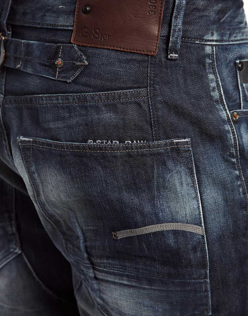 Aged Dark G Back Cinch Blades Raw Tapered Lyst Star Jeans ZqAO6ngB