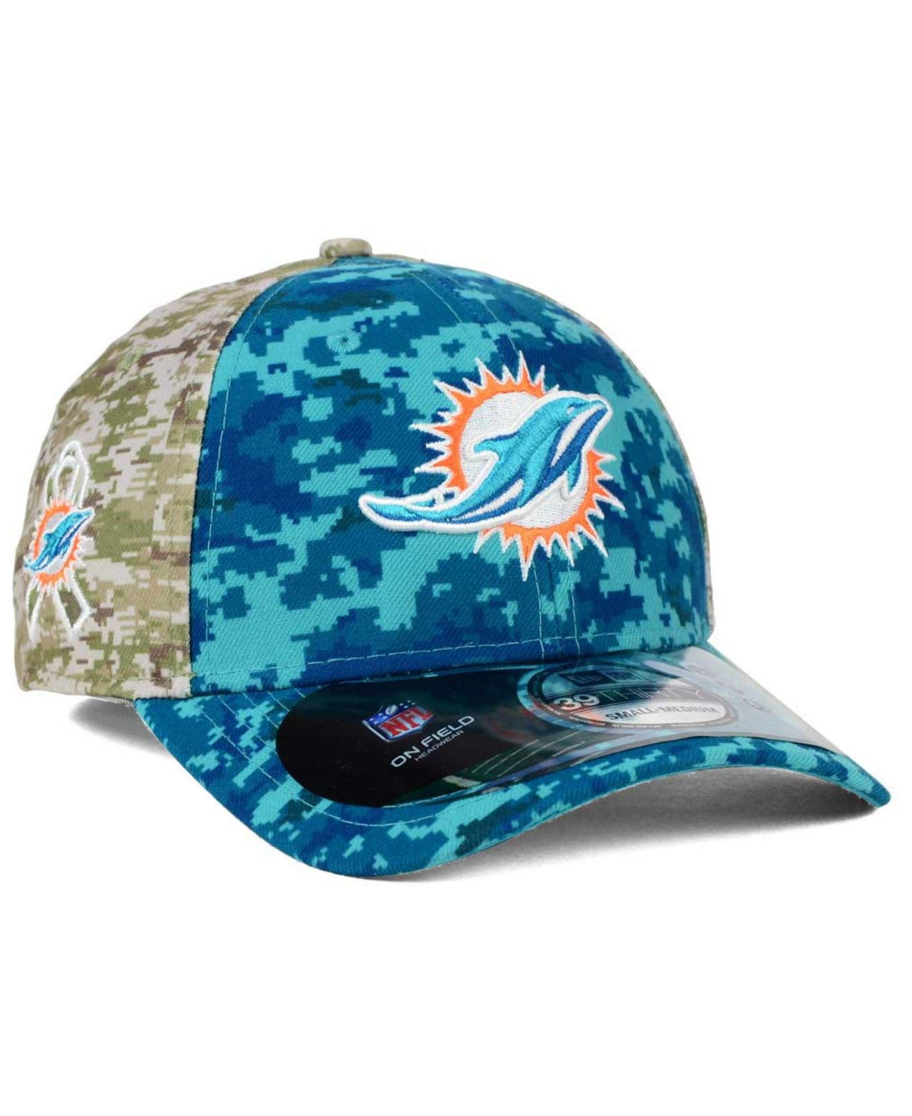 buy online f93d3 a61d7 KTZ Miami Dolphins Salute To Service 39thirty Cap in Blue for Men - Lyst
