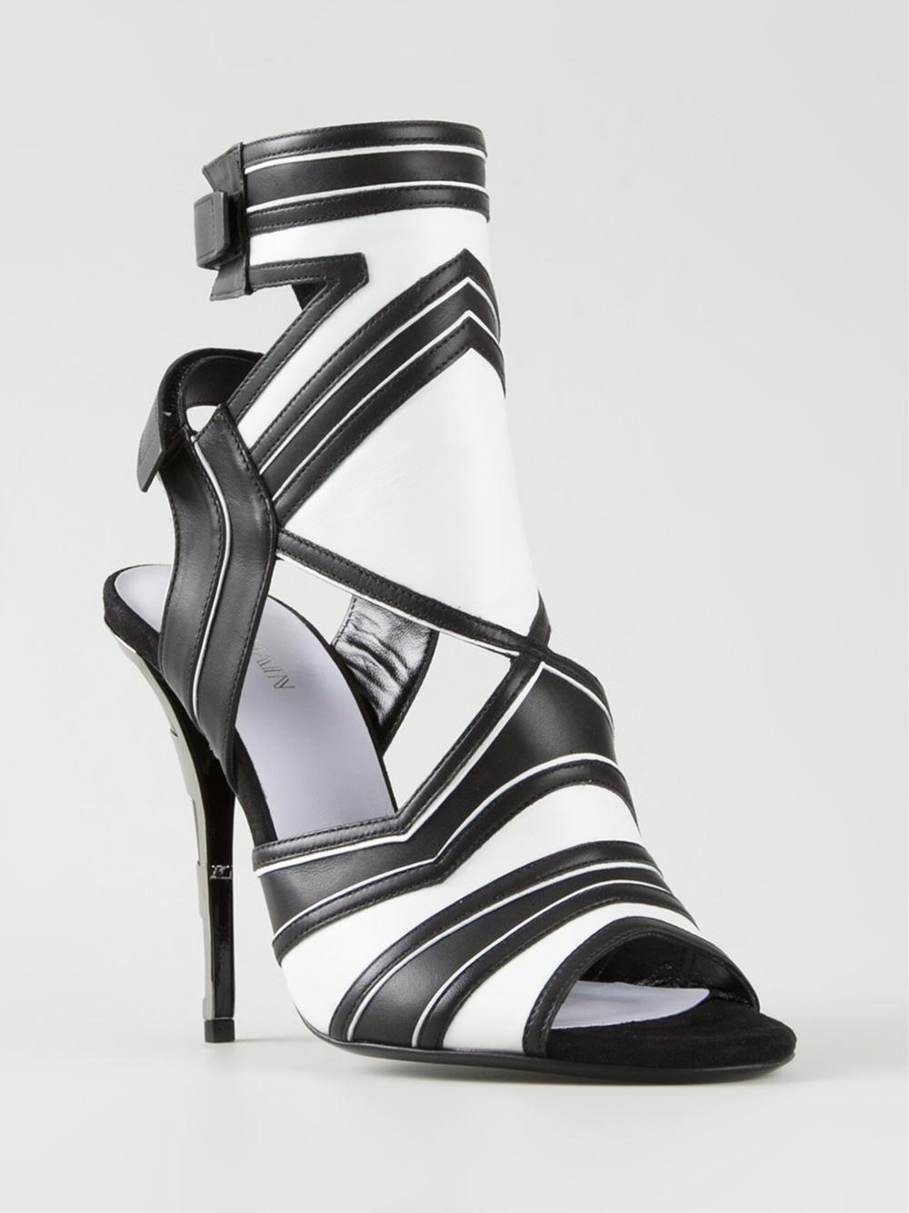 82ce1654234 Lyst - Balmain Strappy Sandals in Black