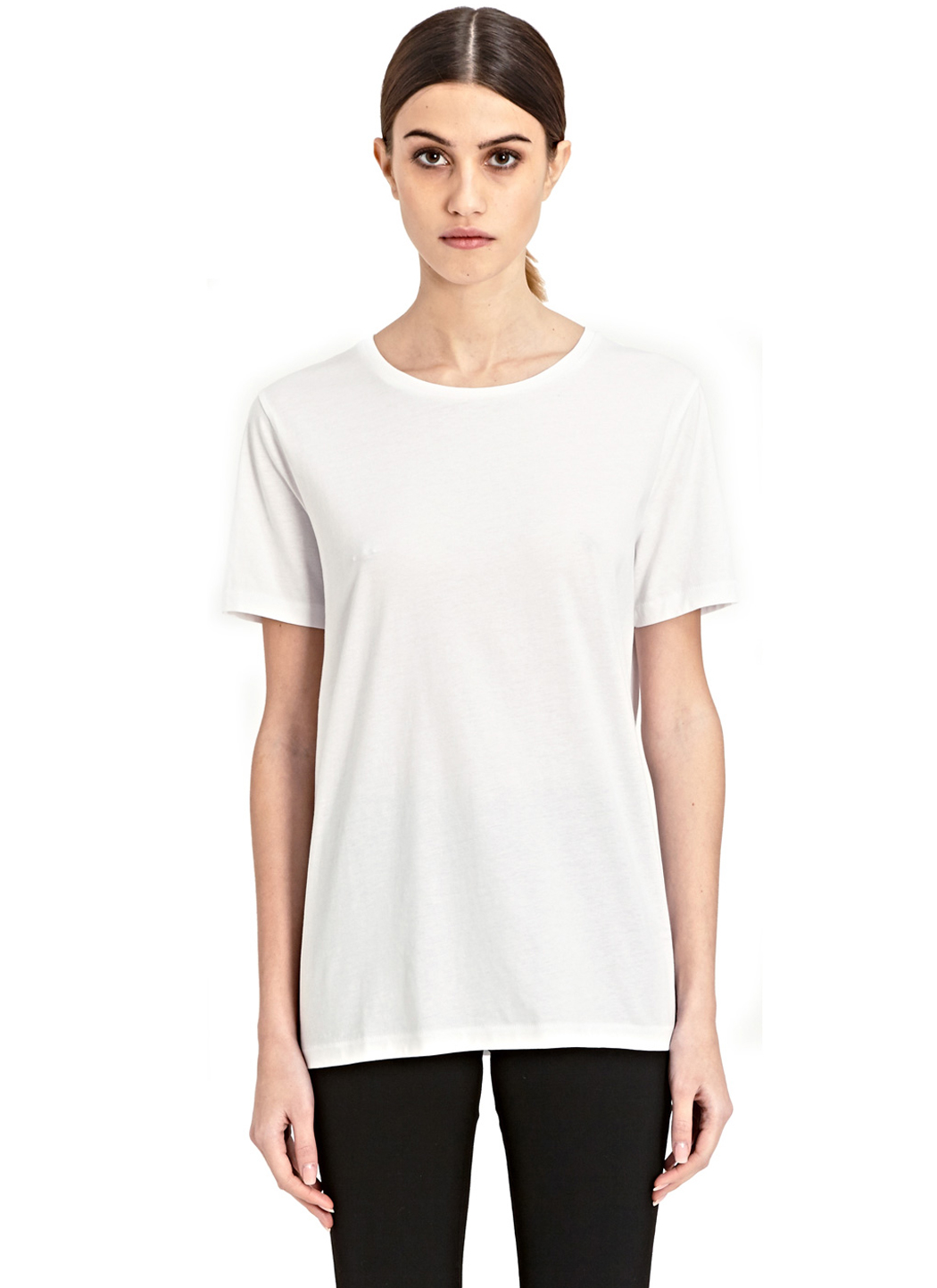 Acne vista crew neck t shirt in white lyst for Crew neck white t shirt