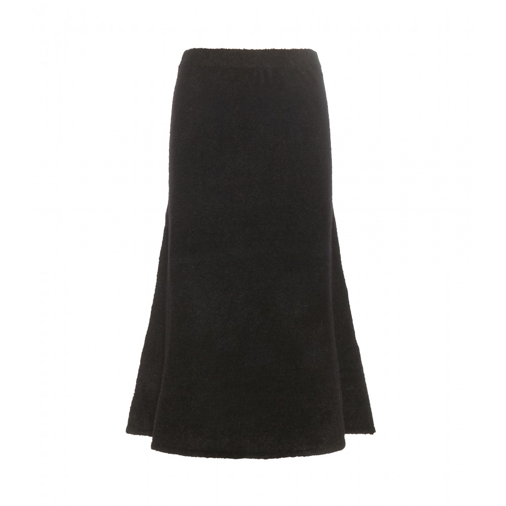 t by wang knitted midi skirt in black lyst