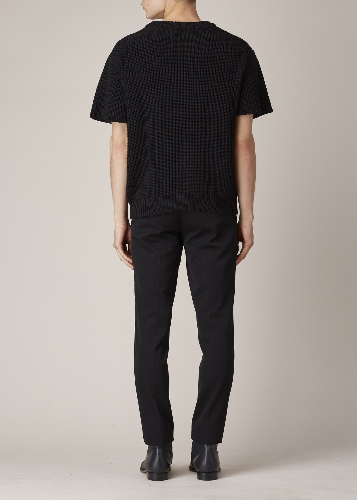 Robert geller Charcoal Short-sleeve Fisherman Sweater in Black for ...