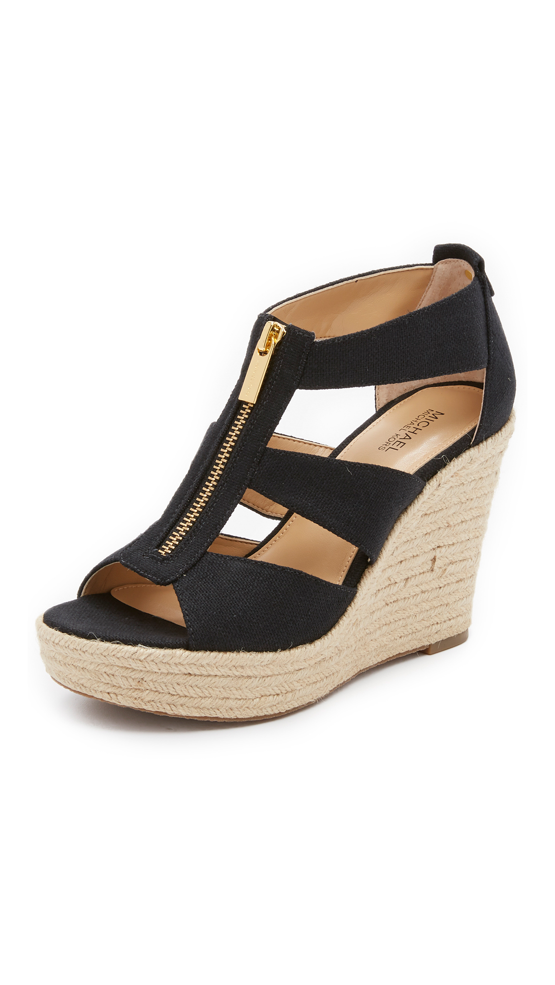 Lyst - Michael Michael Kors Damita Wedge Sandals in Black