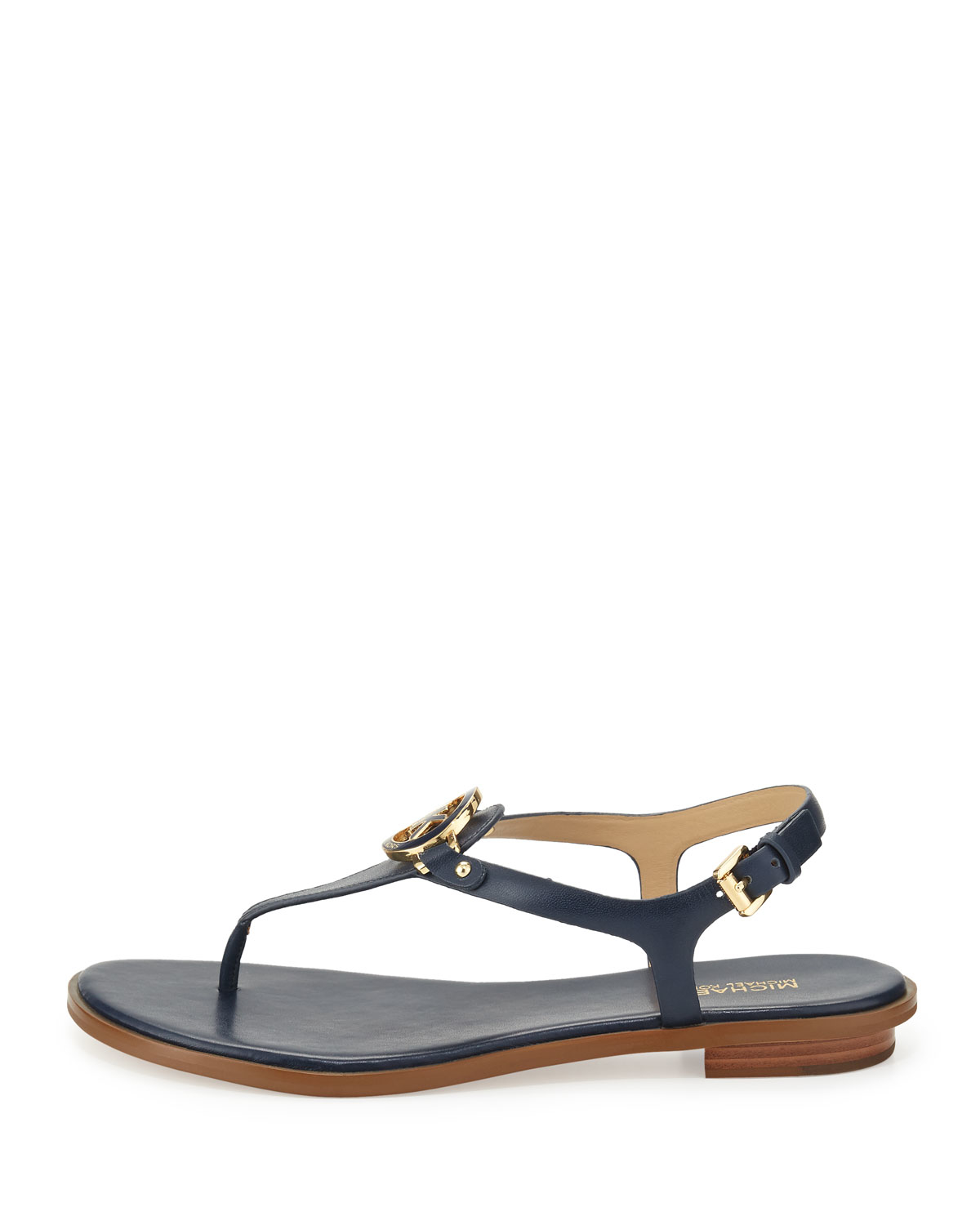 18533cb58713f Lyst - MICHAEL Michael Kors Lee Leather Sandals in Blue