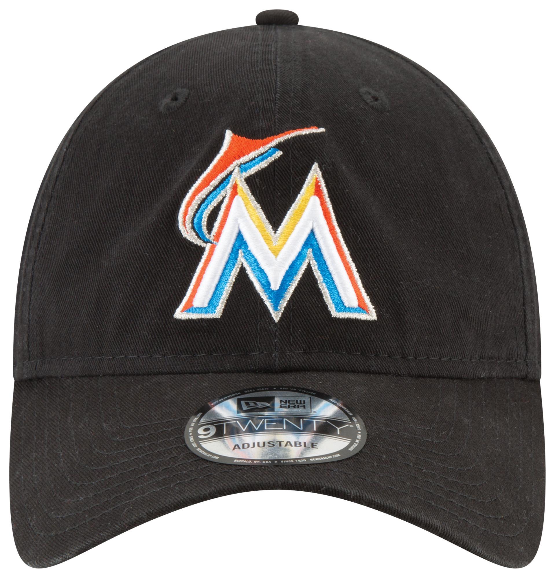 wholesale dealer 9eb35 1de34 KTZ - Black Miami Marlins Mlb 9twenty Core Classic Replica Cap for Men -  Lyst. View fullscreen