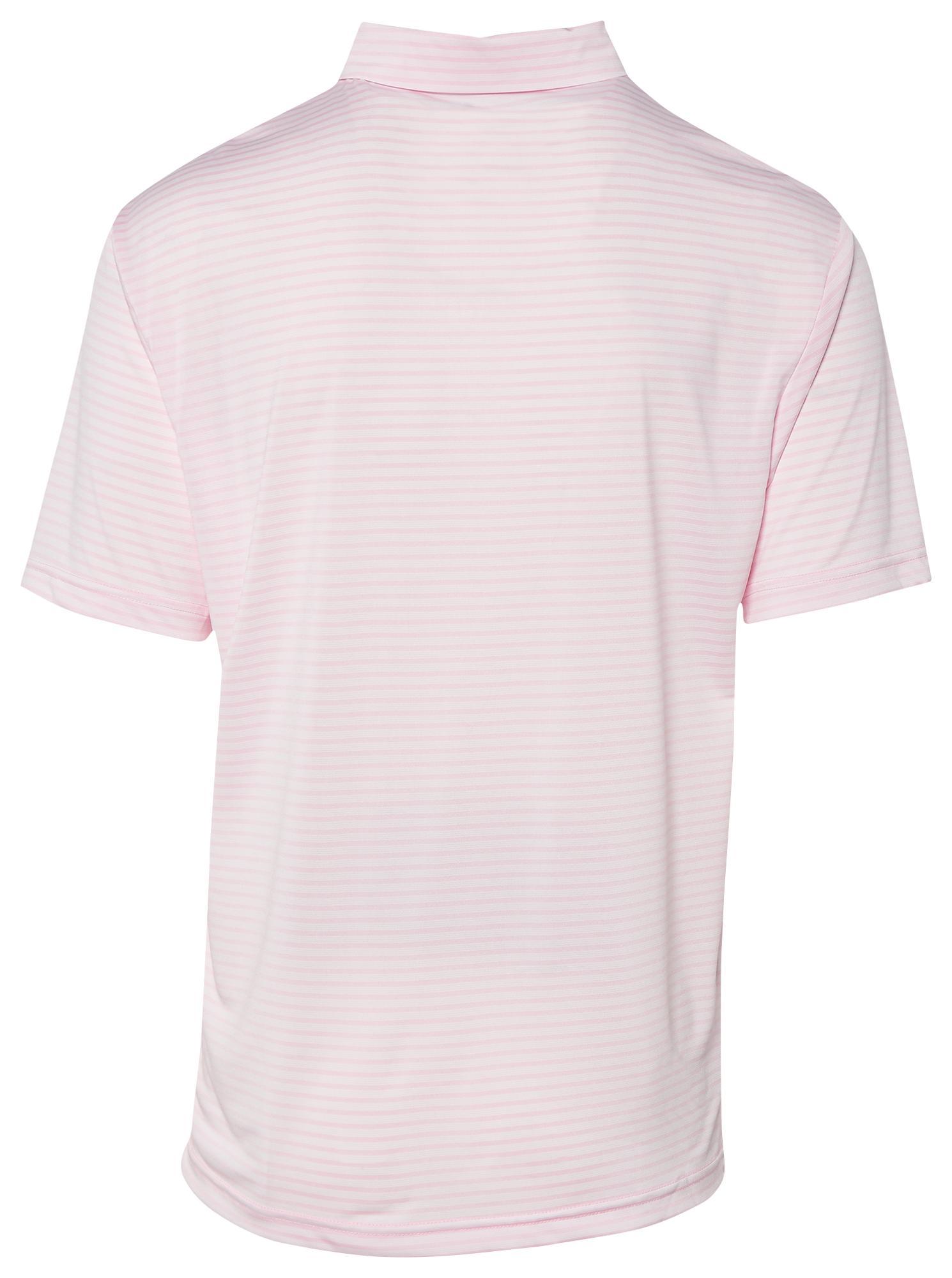 bf15111da1 PGA TOUR - Pink Feeder Stripe Golf Polo for Men - Lyst. View fullscreen