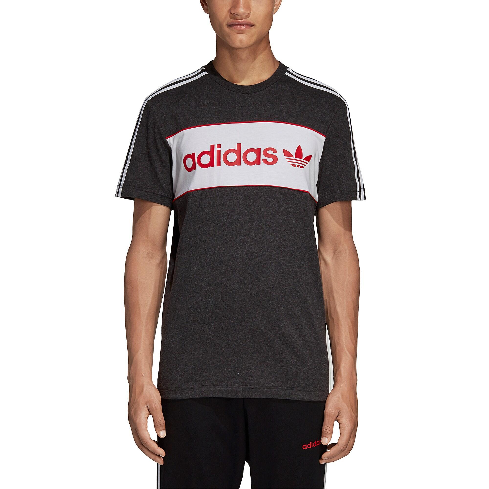 05c3b121 adidas Originals Linear T-shirt in Black for Men - Lyst