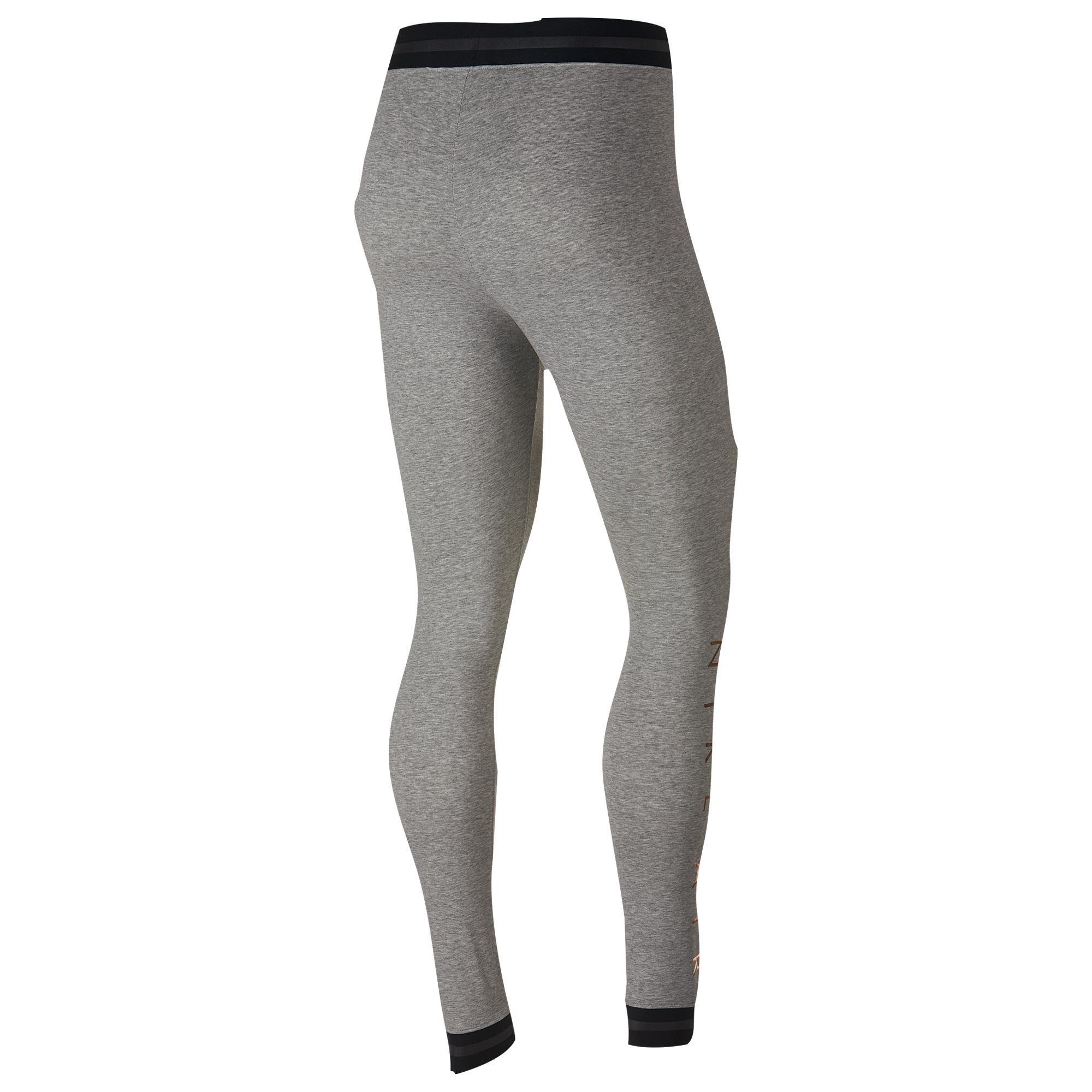50c25dff75450 Nike - Gray Rose Gold Metallic Air Leggings - Lyst. View fullscreen