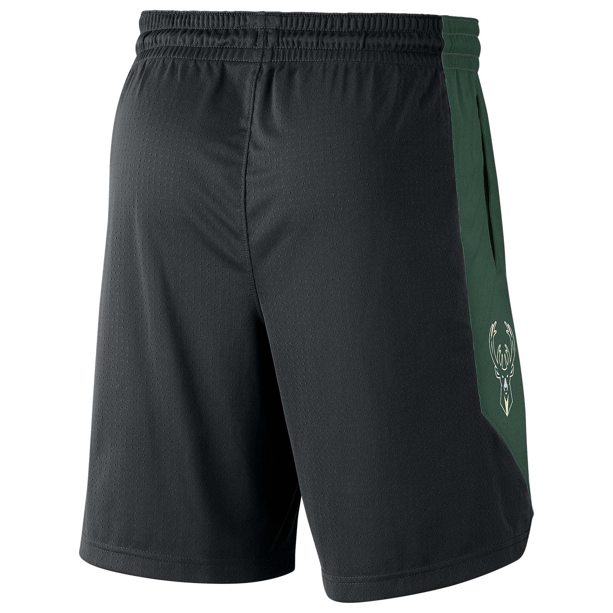 d4c2120d24d Nike - Black Milwaukee Bucks Nba Practice Shorts for Men - Lyst. View  fullscreen