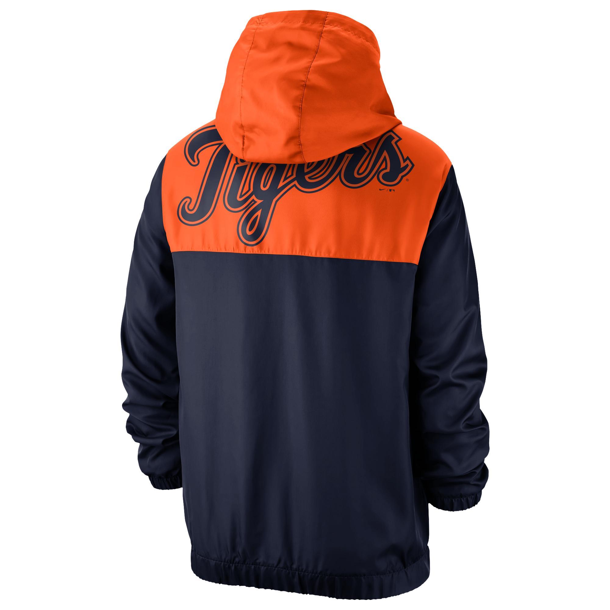 size 40 c0316 1b530 Nike Detroit Tigers Mlb Workout 1/2 Zip Anorak Jacket in ...